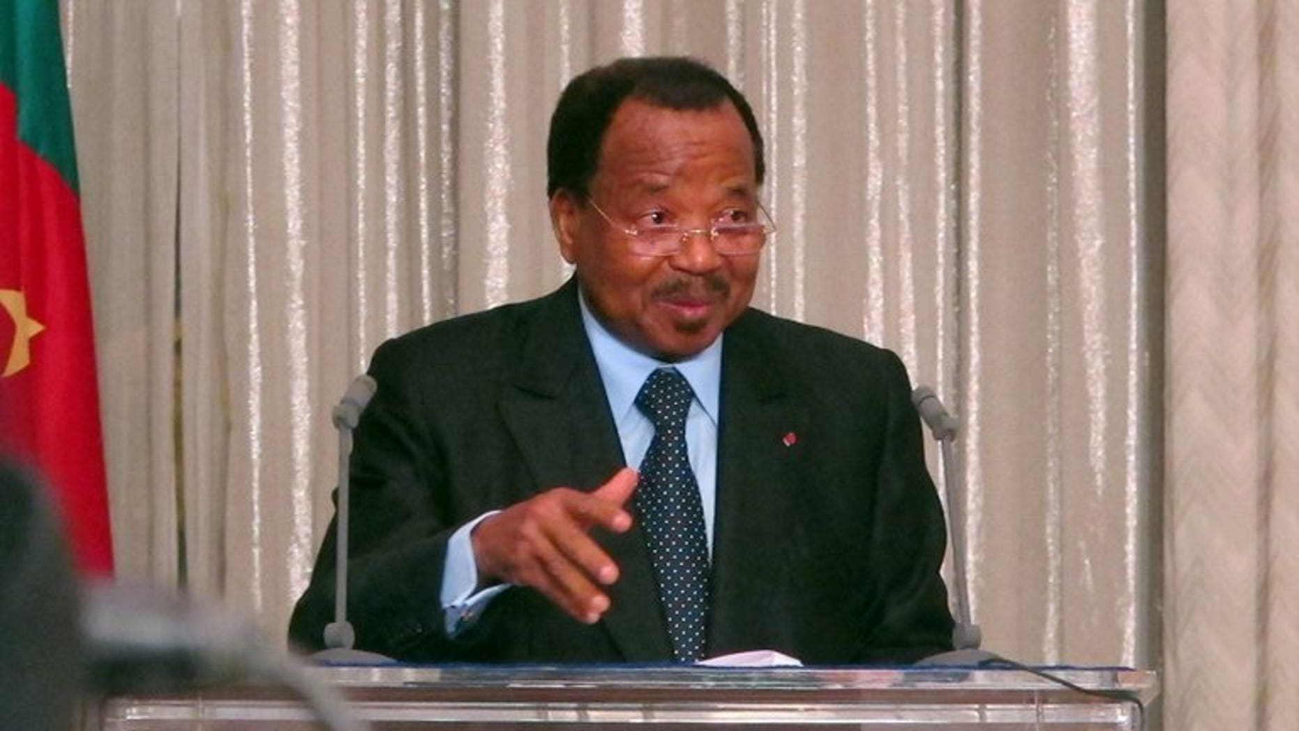 Cameroon President Paul Biya, seen at the presidential palace in Yaounde on April 19, 2013. Legislative and municipal elections will be held on September 30 in Cameroon, the president has announced on state radio.