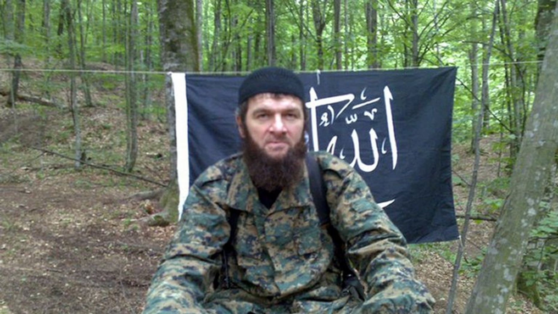 An Ansar AlJihad Network internet image allegedly shows Chechen Islamist leader Doku Umarov. Doku Umarov has called in a video released on Wednesday for jihadists to stage attacks against a range of targets that include the 2014 Sochi Olympic Games.