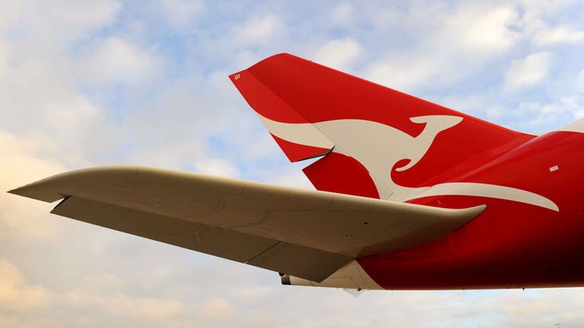 A Qantas A380 Airbus sits on the tarmac at Melbourne's Tullamarine Airport on August 11, 2011. Australian police said Friday they had restrained a man as he tried to break into the cockpit of a commercial Qantas flight en route to the Philippines.