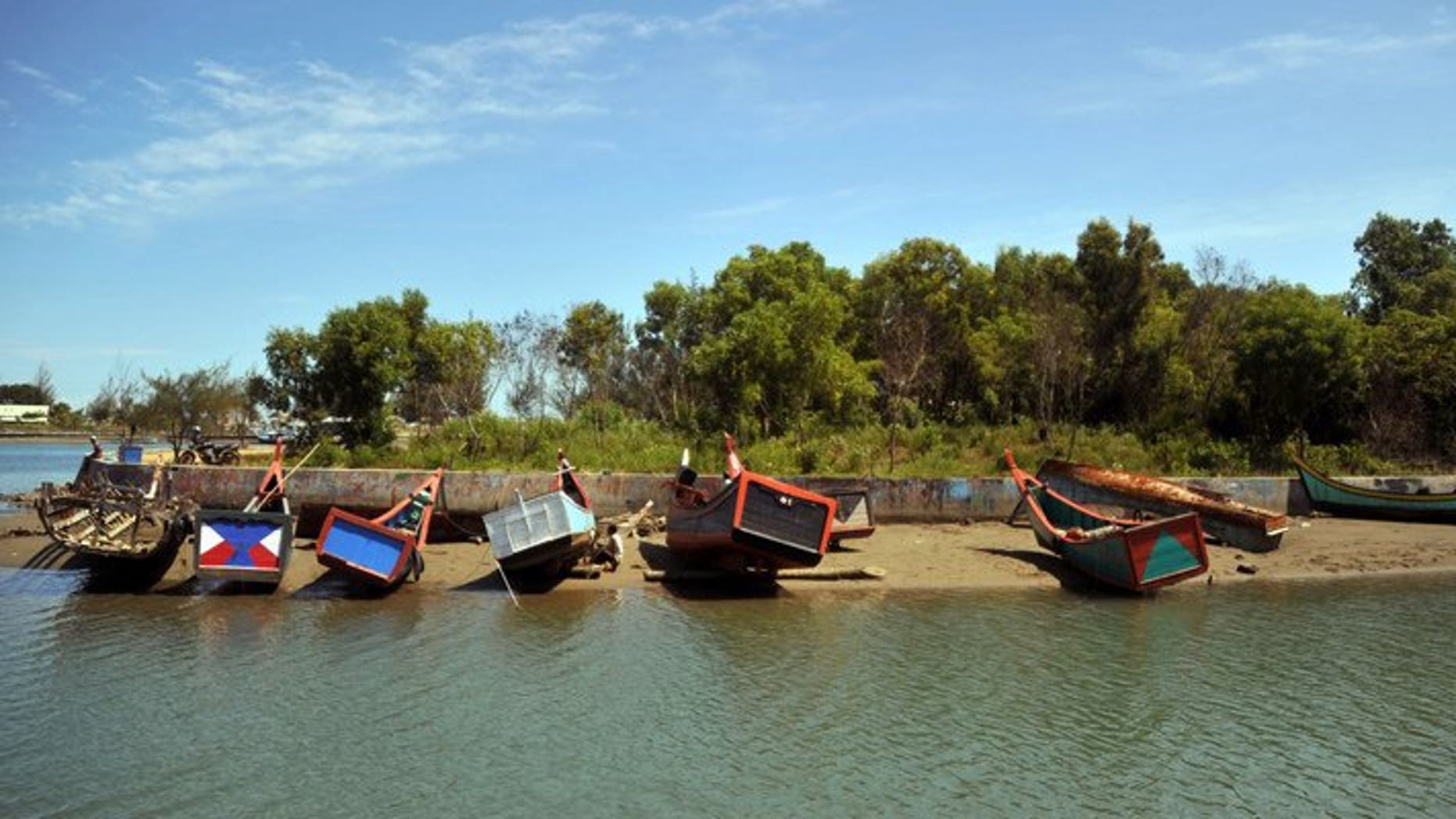 This file photo shows fishing boats near a village in Banda Aceh, on April 13, 2012. A strong 6.4-magnitude quake struck off the Indonesian island of Sumatra on Saturday, the US Geological Survey said, but no tsunami warning was issued.
