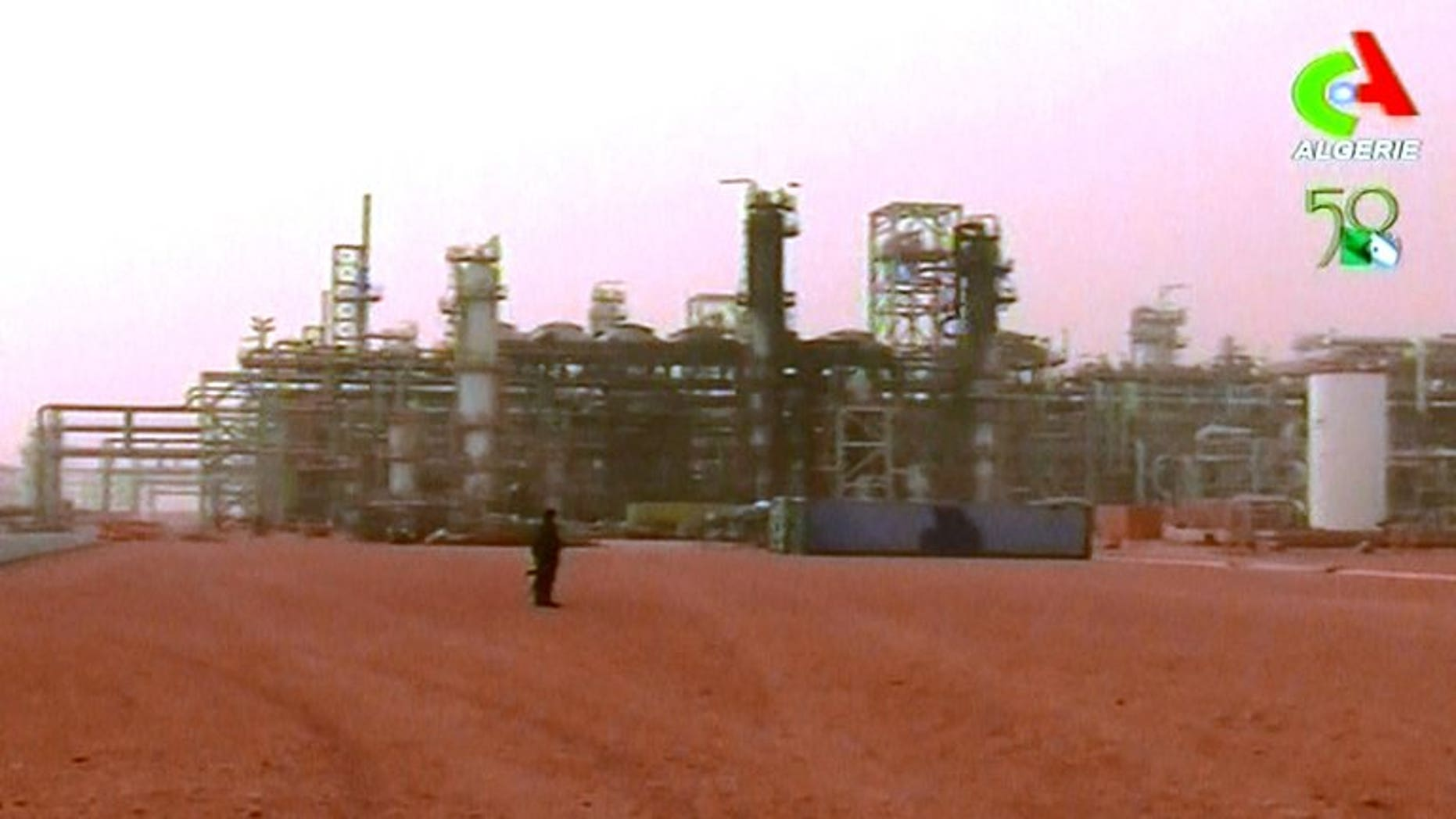 A video grab from Canal Algerie footage on January 20 of Algeria's Tiguentourine gas plant after Islamists seized it. Algeria and the European Union signed a memorandum of understanding on Sunday to develop energy cooperation, EU commission president Jose Manuel Barroso said.