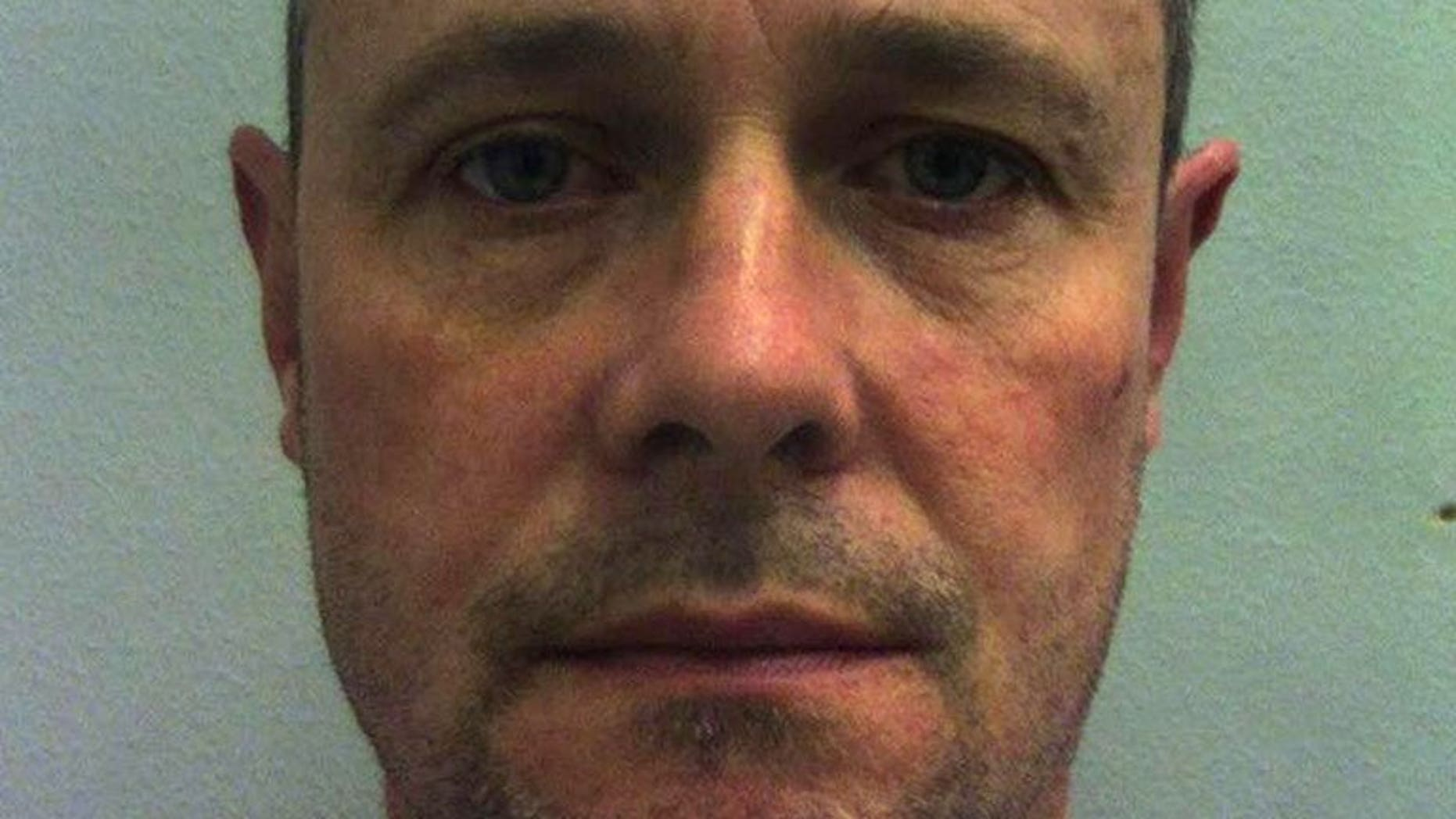 Mark Bridger, now convicted of the abduction and murder of April Jones, in an undated photograph released by Manchester police. The killer of five-year-old April Jones has been slashed in the face with an improvised knife by a fellow inmate at Wakefield prison, a report said on Tuesday.