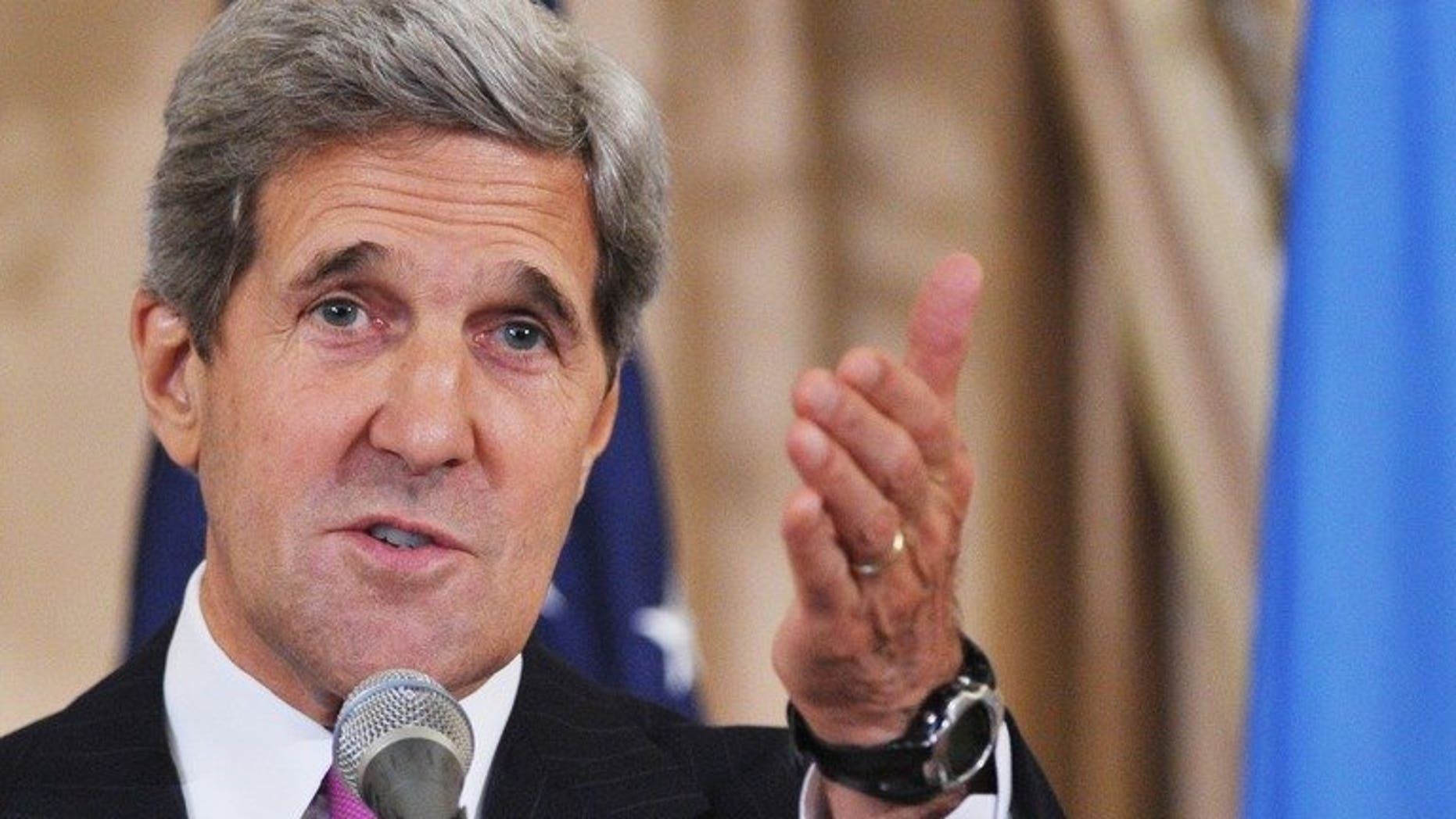 US Secretary of State John Kerry's return to the Middle East to restart direct talks between Israel and the Palestinians could be postponed because of his wife's illness, a Palestinian official said.