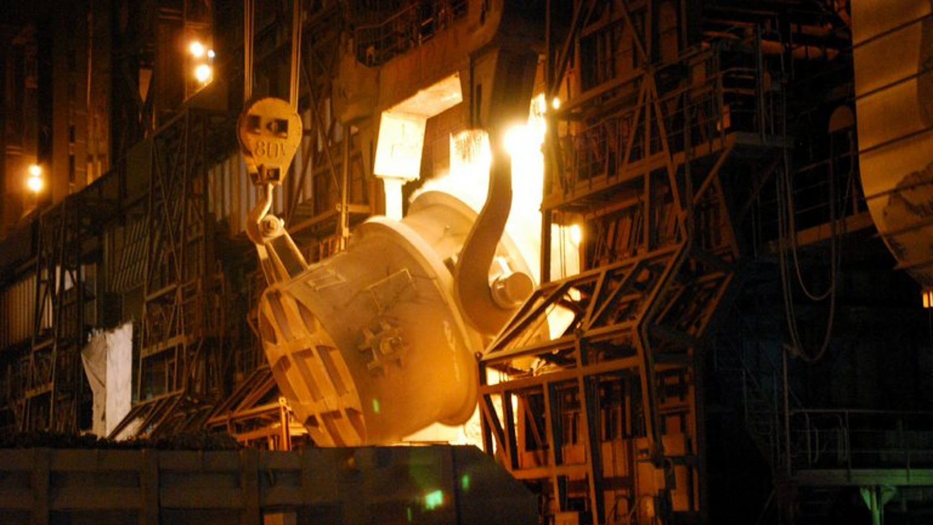 A converter process at Nippon Steel's Kimitsu iron mill in Kimitsu, on November 26, 2010. A South Korean court has ordered the Japanese steel giant to pay compensation over forced wartime labour in what was described as the first ruling of its kind.