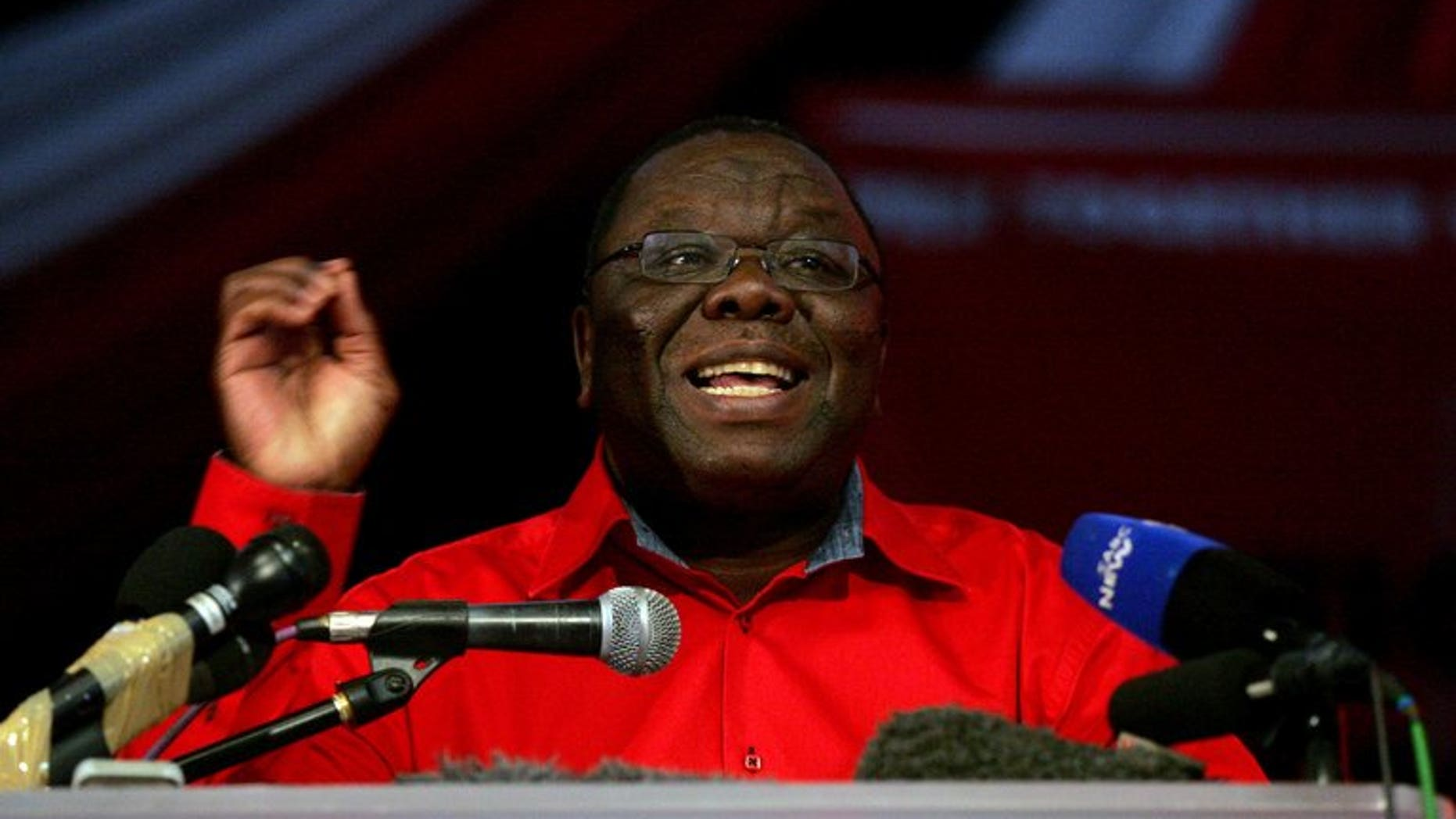 Zimbabwe Prime Minister Morgan Tsvangirai is pictured on May 17, 2013 in Harare. Nine supporters of Tsvangirai were injured during an attack Wednesday by suspected activists from veteran President Robert Mugabe's party, a party spokesman said.