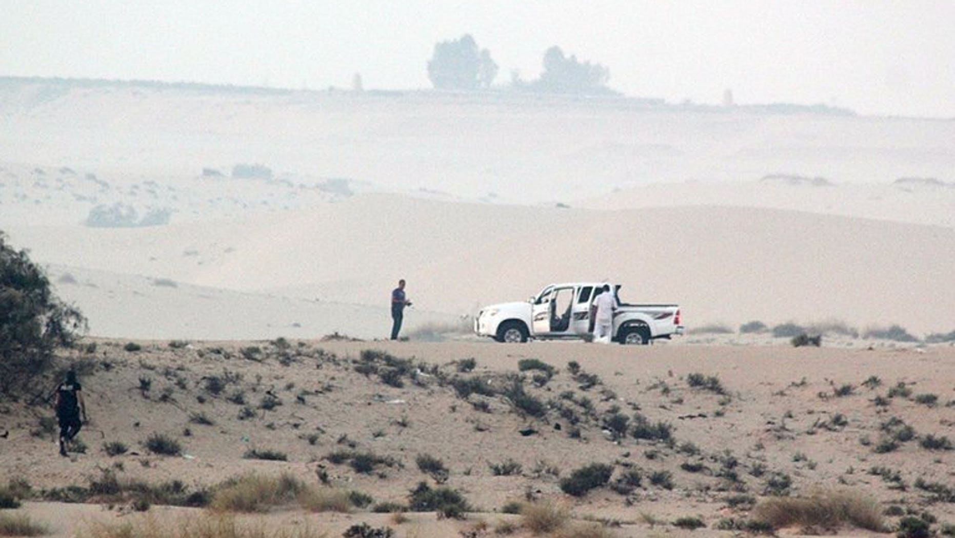 Egyptian security forces take position during an operation in the northern Sinai peninsula on August 8, 2012. Gunmen on Wednesday opened fire on the car of a senior military commander in Egypt's restive Sinai peninsula, the army spokesman said, a day after two people died in an attack by militants on a security checkpoint.