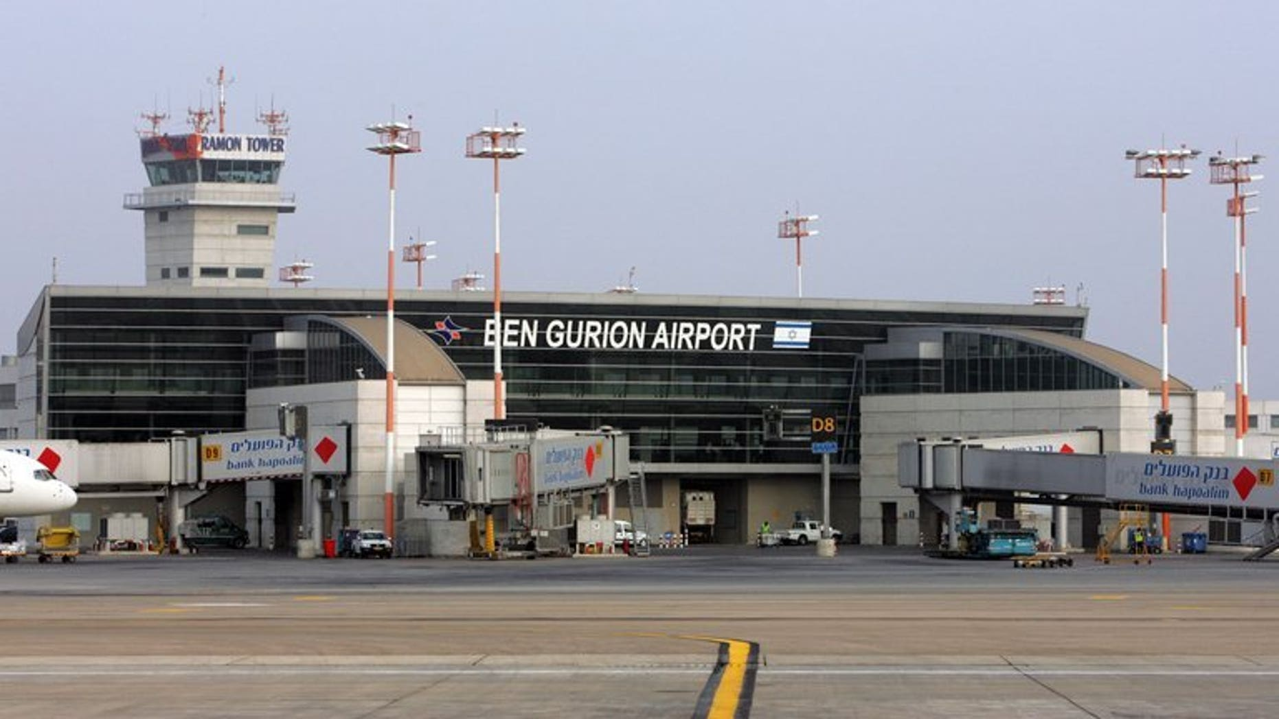 File photo shows Ben Gurion international airport on the outskirts of Tel Aviv, July 25 2007. A Greek charter plane made an emergency landing at Tel Aviv's Ben Gurion airport on Thursday after the pilot had sent out a distress signal, an airport official told AFP.