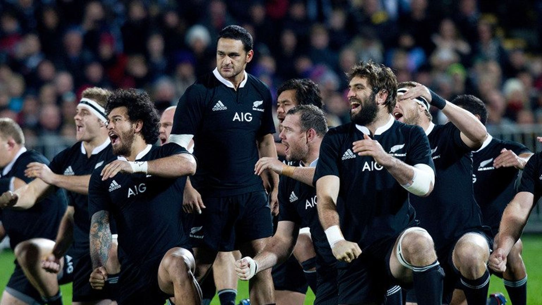 New Zealand perform the Haka before their clash with France on June 22, 2013. The All Blacks will play Japan in Tokyo in November ahead of their European tour.