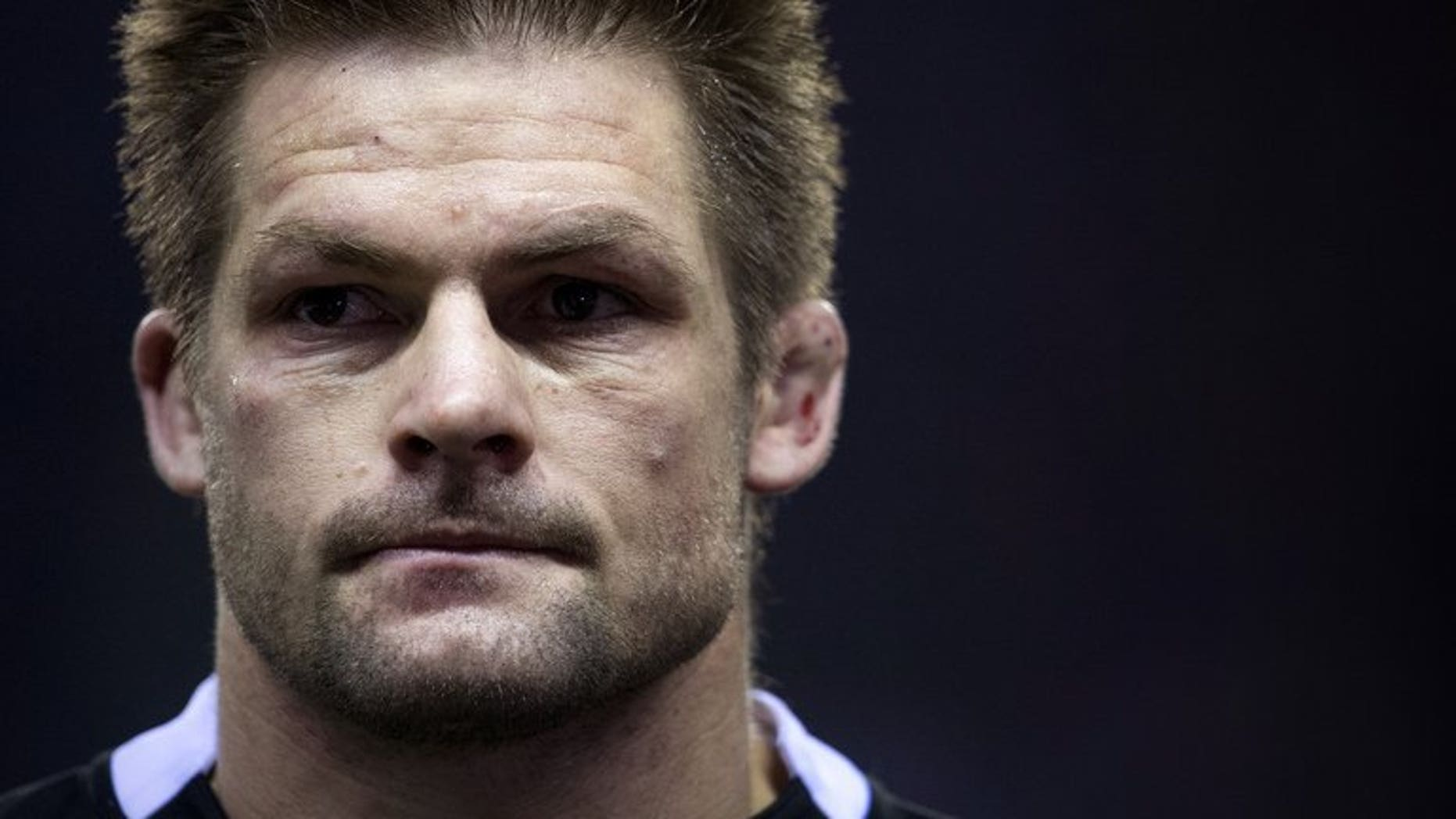 In this file photo, New Zealand All Blacks' captain Richie McCaw is pictured at Twickenham Stadium, southwest of London, on December 1, 2012. McCaw ended a seven-month break from rugby in a humble amateur match on Saturday before declaring himself ready to return to the professional fray.