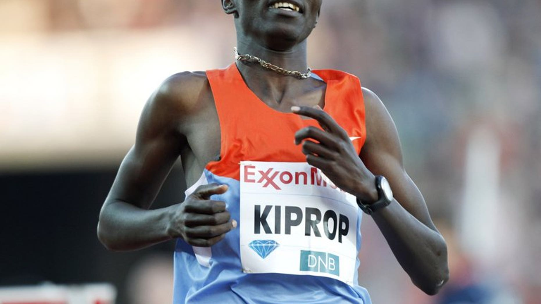 Kenya's former Olympic 1500m champion Asbel Kiprop, pictured in action on June 7, 2012, and compatriots Silas Kiplagat and Nixon Chepseba flopped when favourites to sweep the medals at the London Olympics and now want to make amends at the world championships in Moscow.