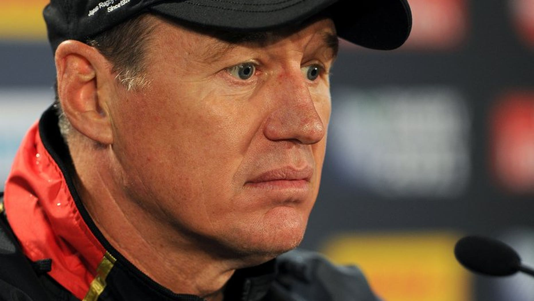 Coach John Kirwan, pictured during a press conference in Hamilton, during the 2011 Rugby World Cup. Kirwan, now Auckland Blues coach, is demanding referee Chris Pollock be held accountable for a red card ruling which he said ruined Saturday's Super 15 match against the Waikato Chiefs.