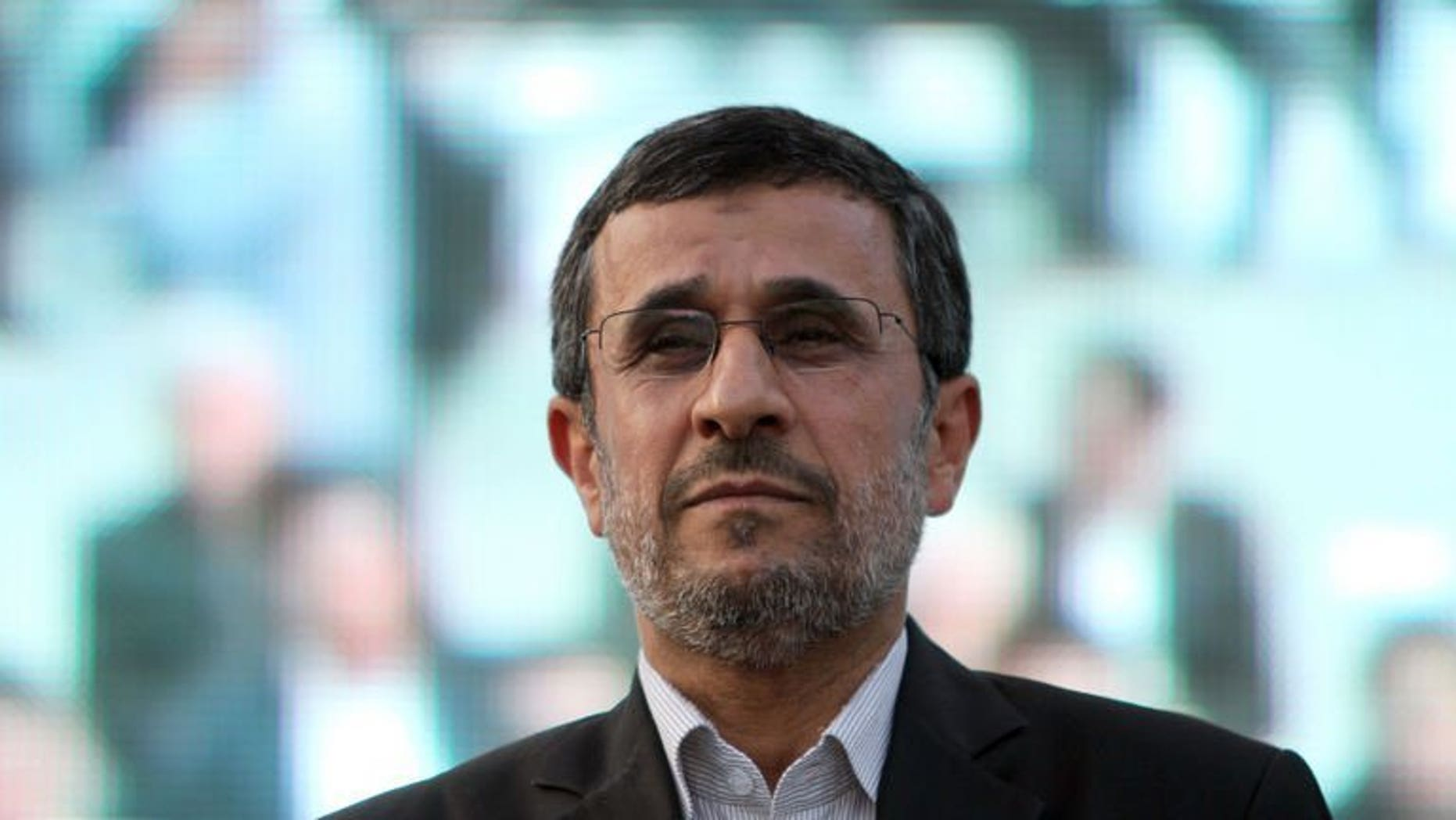 Iran's outgoing President Mahmoud Ahmadinejad attends a ceremony at Tehran's Golestan Palace, on July 7, 2013. Ahmadinejad is set to make a two-day visit this week to neighbouring Iraq, according to Prime Minister Nuri al-Maliki's spokesman.