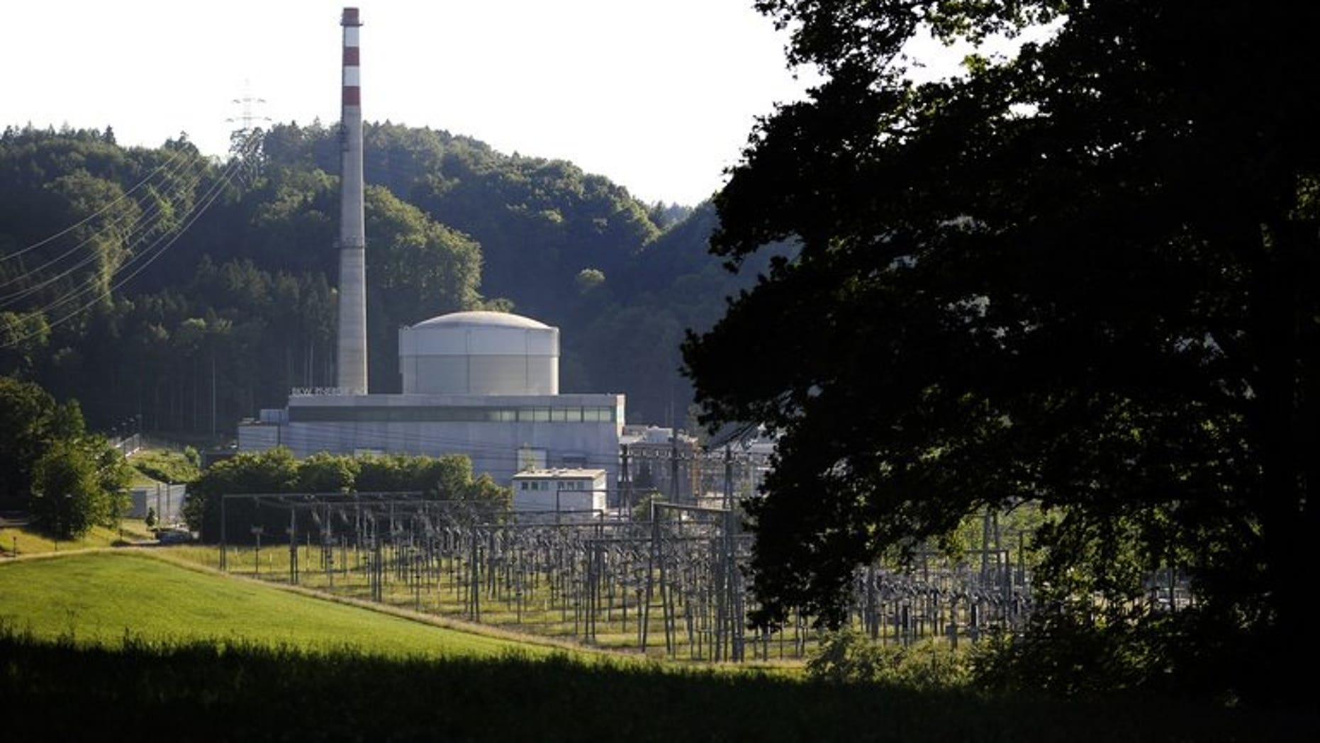 The Muehleberg nuclear power plant in Switzerland, on May 25, 2011. Scientists have discovered a radioactive substance in sediment under a Swiss lake used for drinking water and situated near a nuclear plant, according to the Le Matin Dimanche weekly.