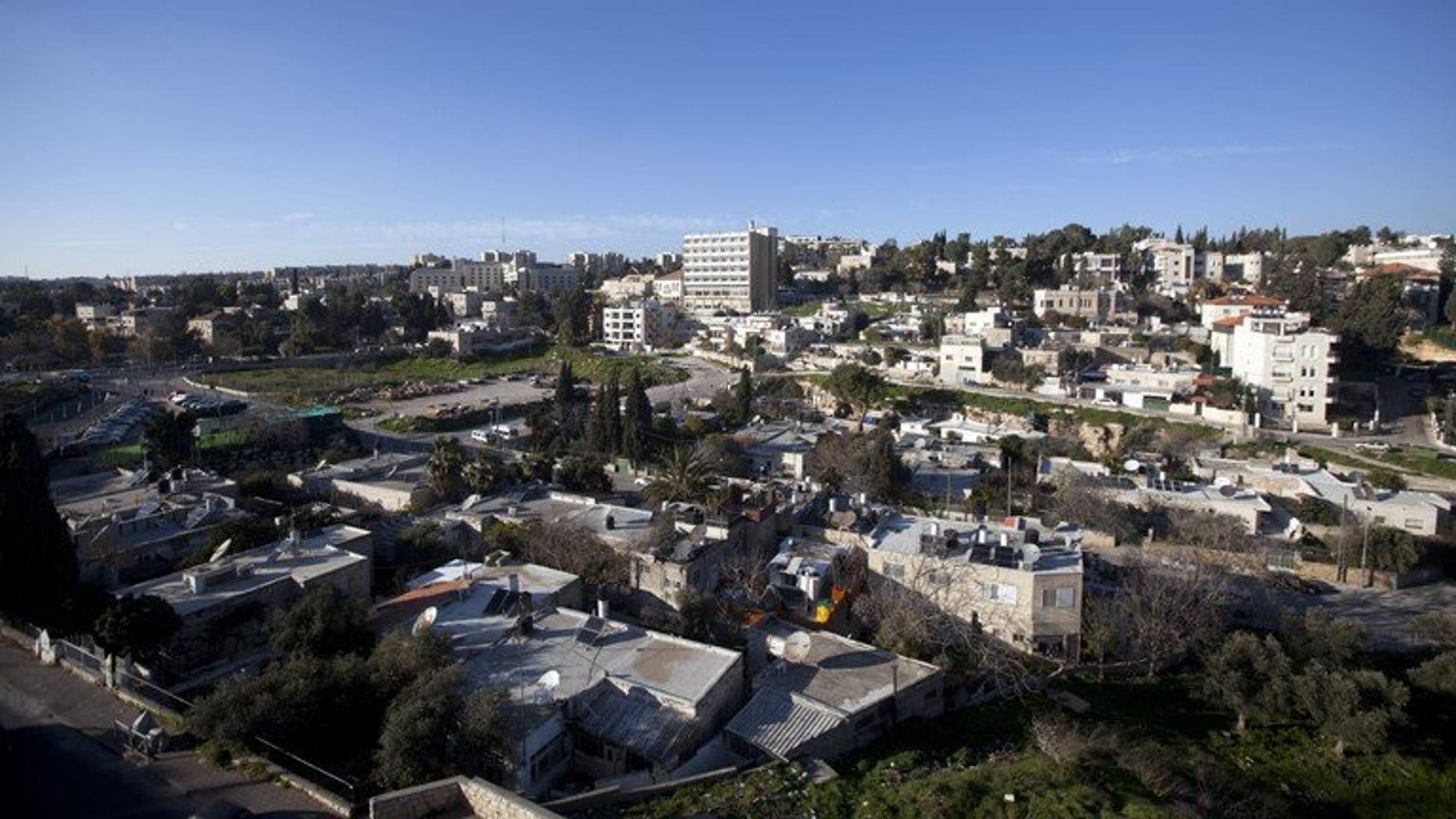 The Sheikh Jarrah neighborhood in mostly Arab east Jerusalem on February 20, 2013. An Israeli court said Sunday it has jailed for 30 months two senior Hamas members who took refugee inside Red Cross east Jerusalem offices in Sheikh Jarrah for a year and a half.