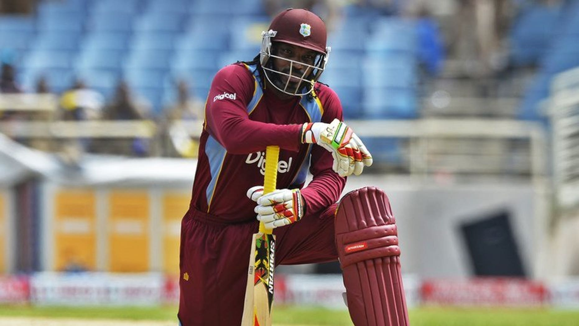 West Indies batsman Chris Gayle in action at Sabina Park in Kingston, on June 28, 2013. Gayle was among a handful of big-name players who played in Sri Lanka's inaugural Twenty20 in 2012.