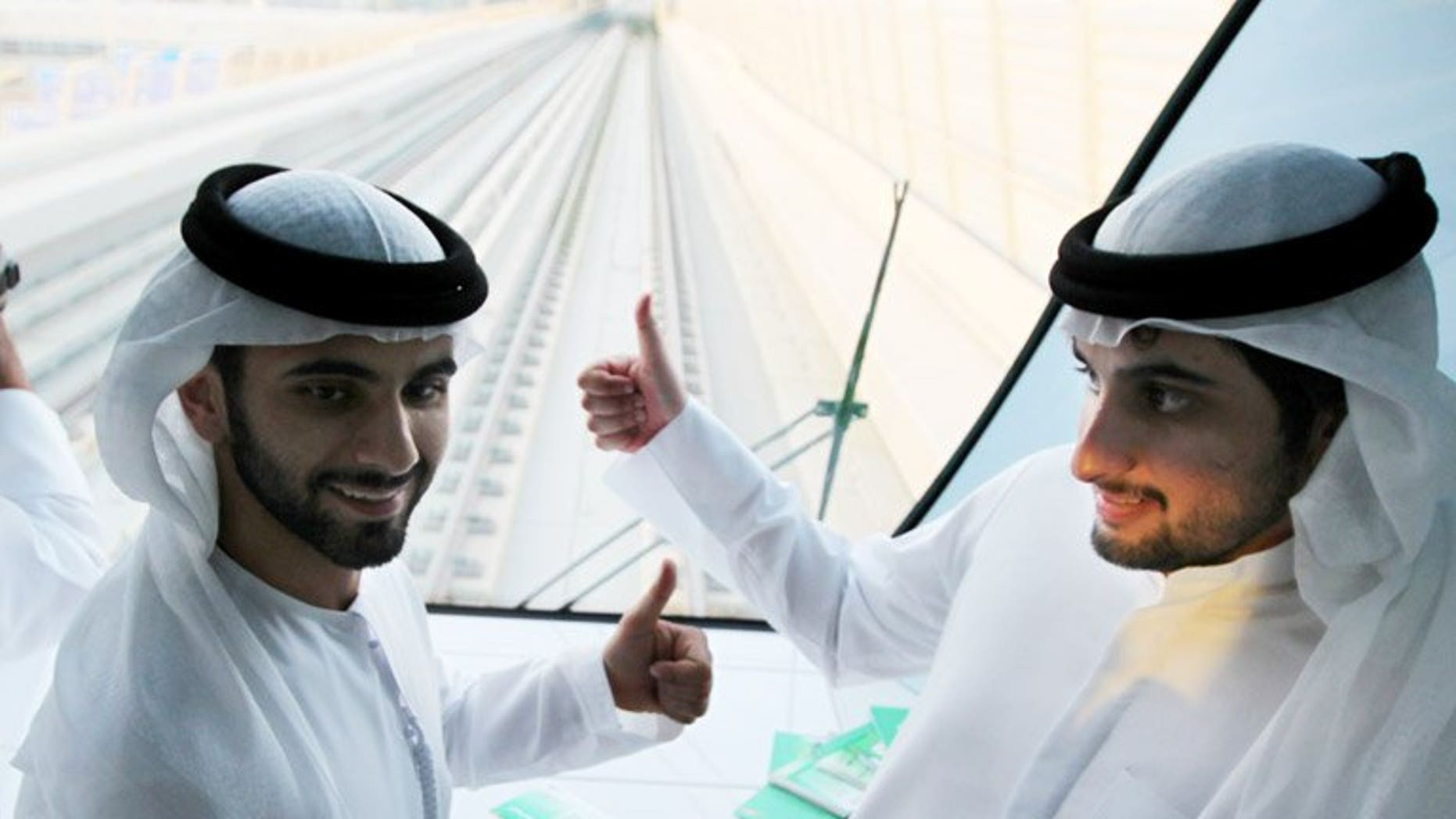 Sheikh Mansour (left) and brother Sheikh Ahmad at the inauguration of Dubai's second metro line in September 2011. An Abu Dhabi sheikh who helped British bank Barclays avoid a state bailout during the global financial crisis has sold his stake.