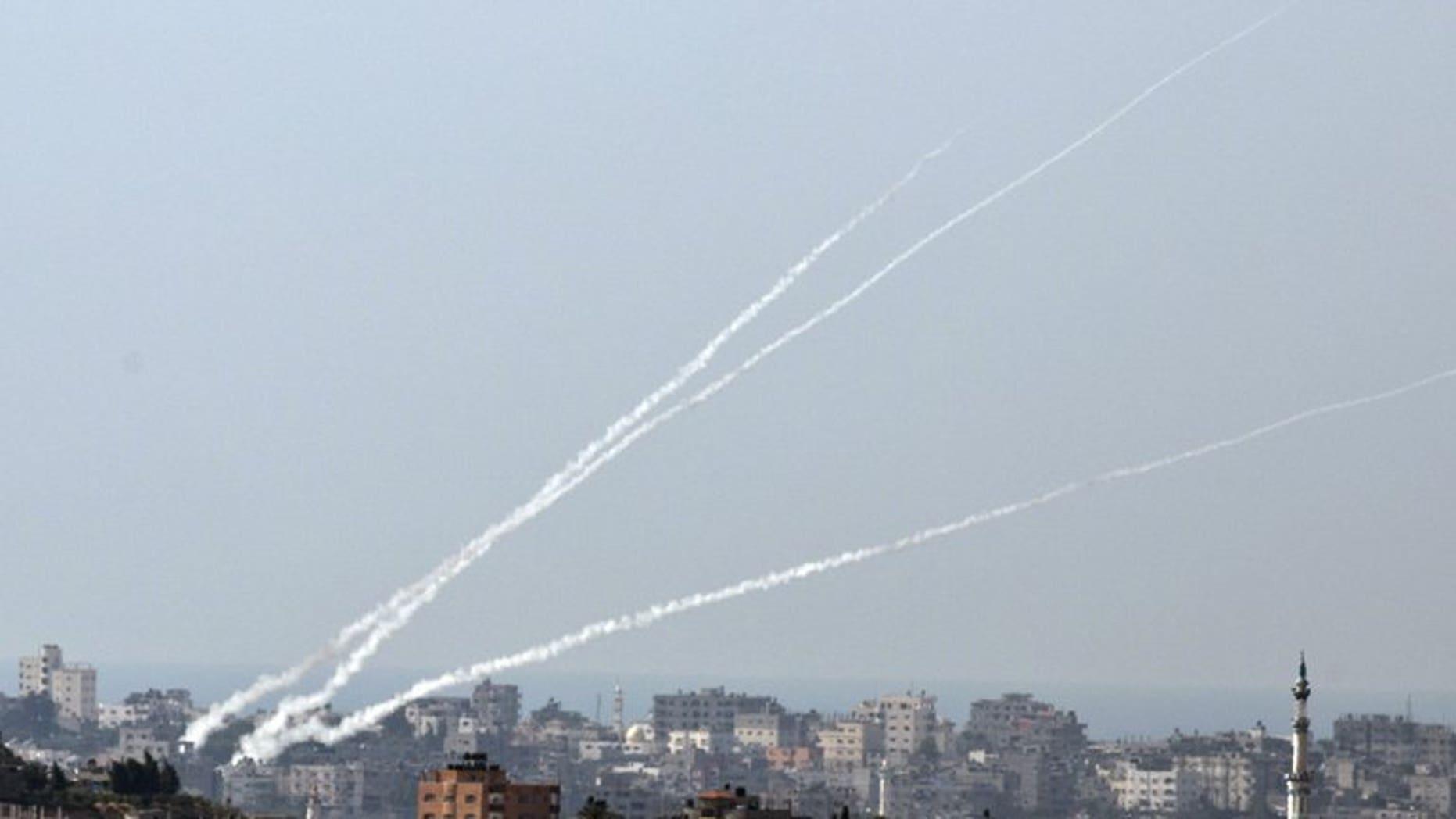 Gaza rocket hits Israel: police | Fox News Rockets Gaza Strip Israel