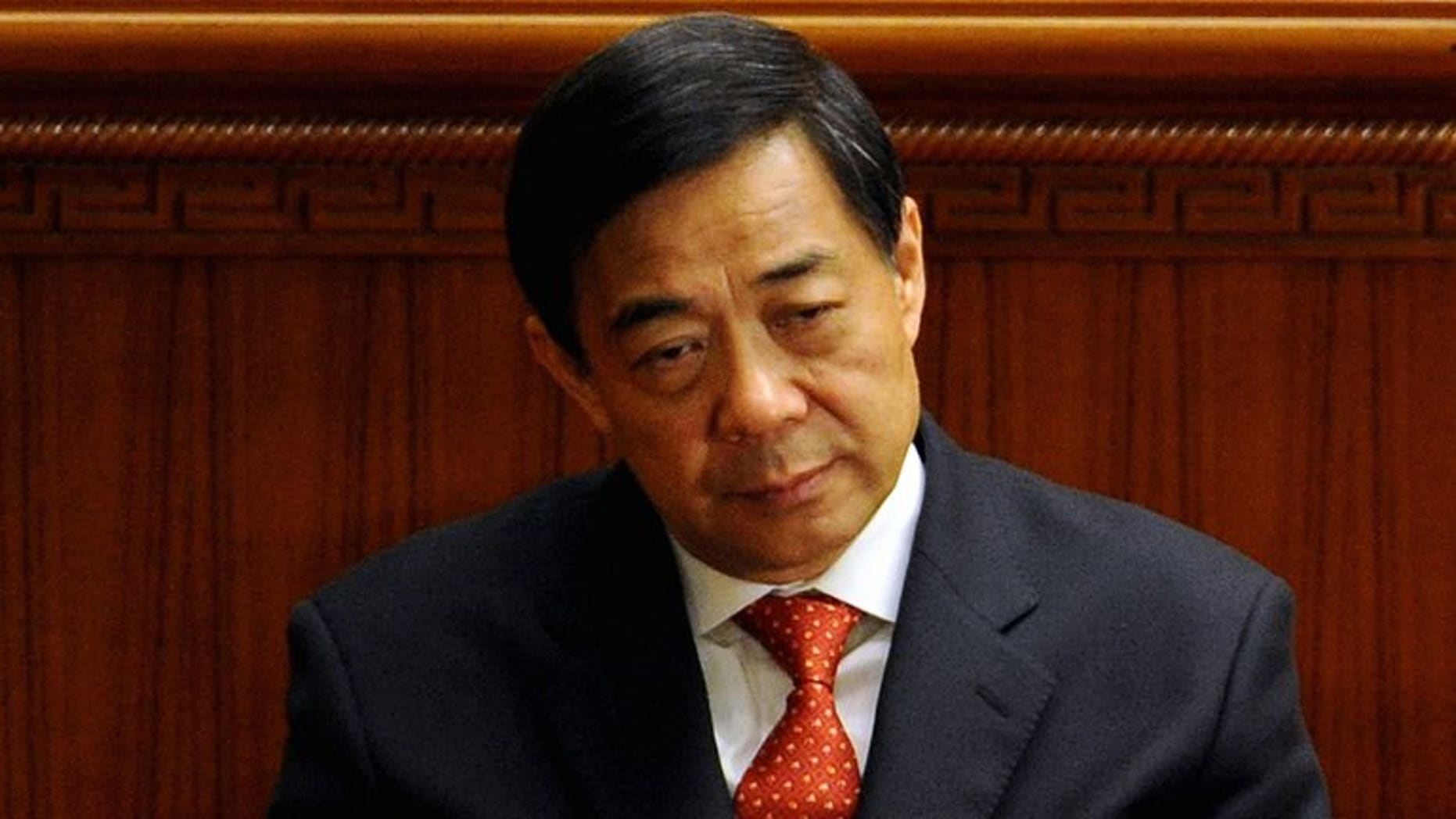 This photo taken on March 14, 2012, shows Chongqing Party Secretary Bo Xilai in Beijing. The trial of Bo Xilai -- set to be China's highest-profile political prosecution in decades -- will be held in August, a source with direct knowledge of the case told AFP on Wednesday.