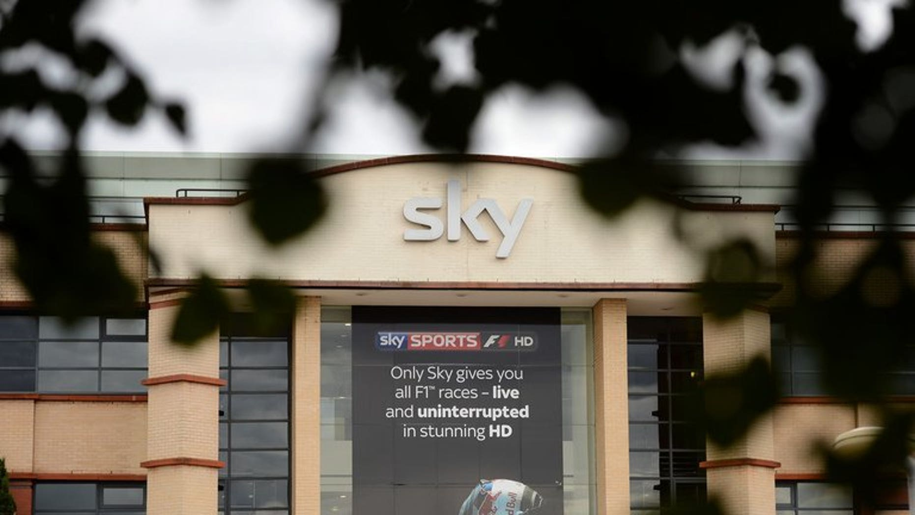 BSkyB headquarters in west London. The British pay-TV giant says annual net profits rose eight percent, boosted by rising revenues and customer numbers.