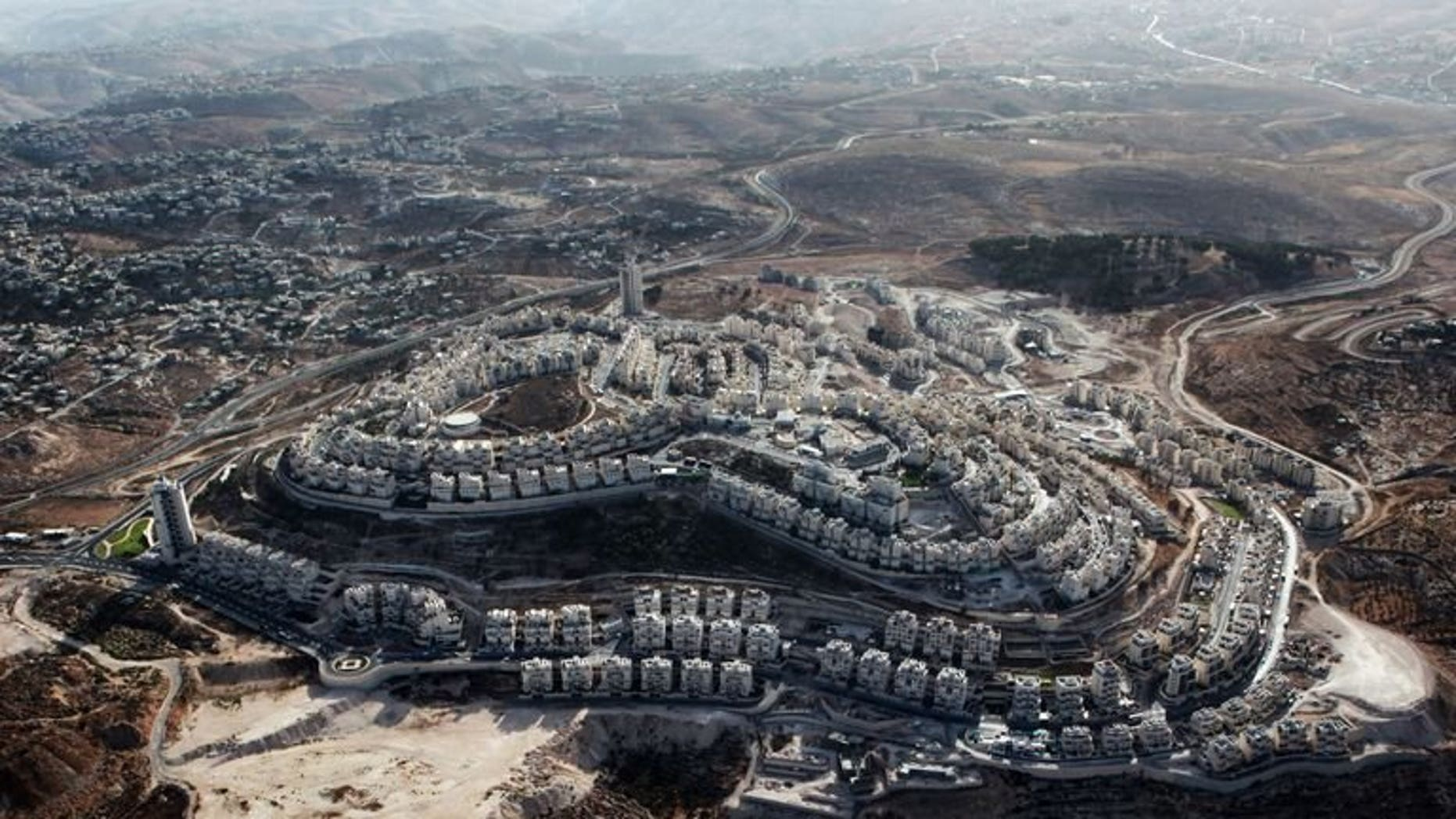 """This photo taken on September 30, 2010 shows the Jewish settlement of Har Homa on the outskirts of Arab east Jerusalem, near the West Bank town of Bethlehem. Israel is giving the EU """"the cold shoulder"""" in the West Bank, Israeli officials told AFP on Friday, following new European guidelines banning dealings with Jewish settlements."""