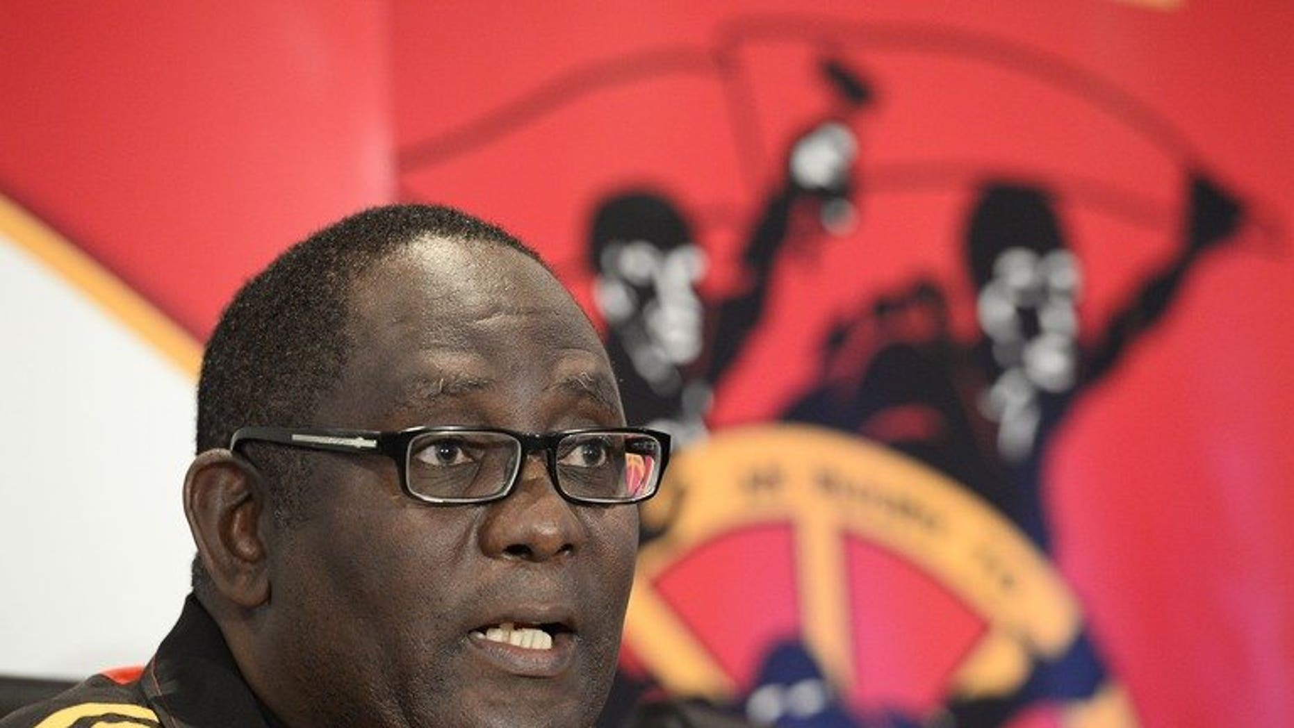 The general secretary of the Congress of South African Trade Unions, Zwelinzima Vavi, gives a press conference on May 29, 2013 at COSATU headquarters in Johannesburg. An employee has accused him of rape, but the politician shot down the allegation as a plot on Saturday.