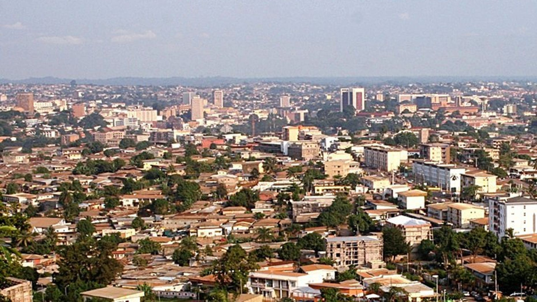 This picture taken on July 20, 2007 shows a general view of Yaounde. Three people were held for questioning Saturday in Cameroon as part of the probe into the murder of a leading gay rights activist, a lawyer said.