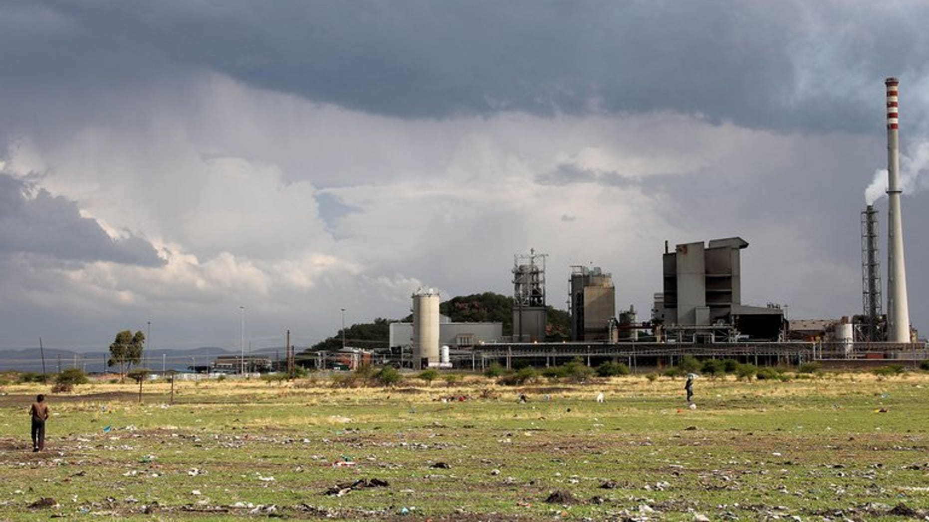 Part of the Lonmin platinum mine in Marikana, South Africa, pictured on October 30, 2012. A worker at the mine has been shot dead, police said, in the latest violence to hit the country's restive northwestern platinum belt.