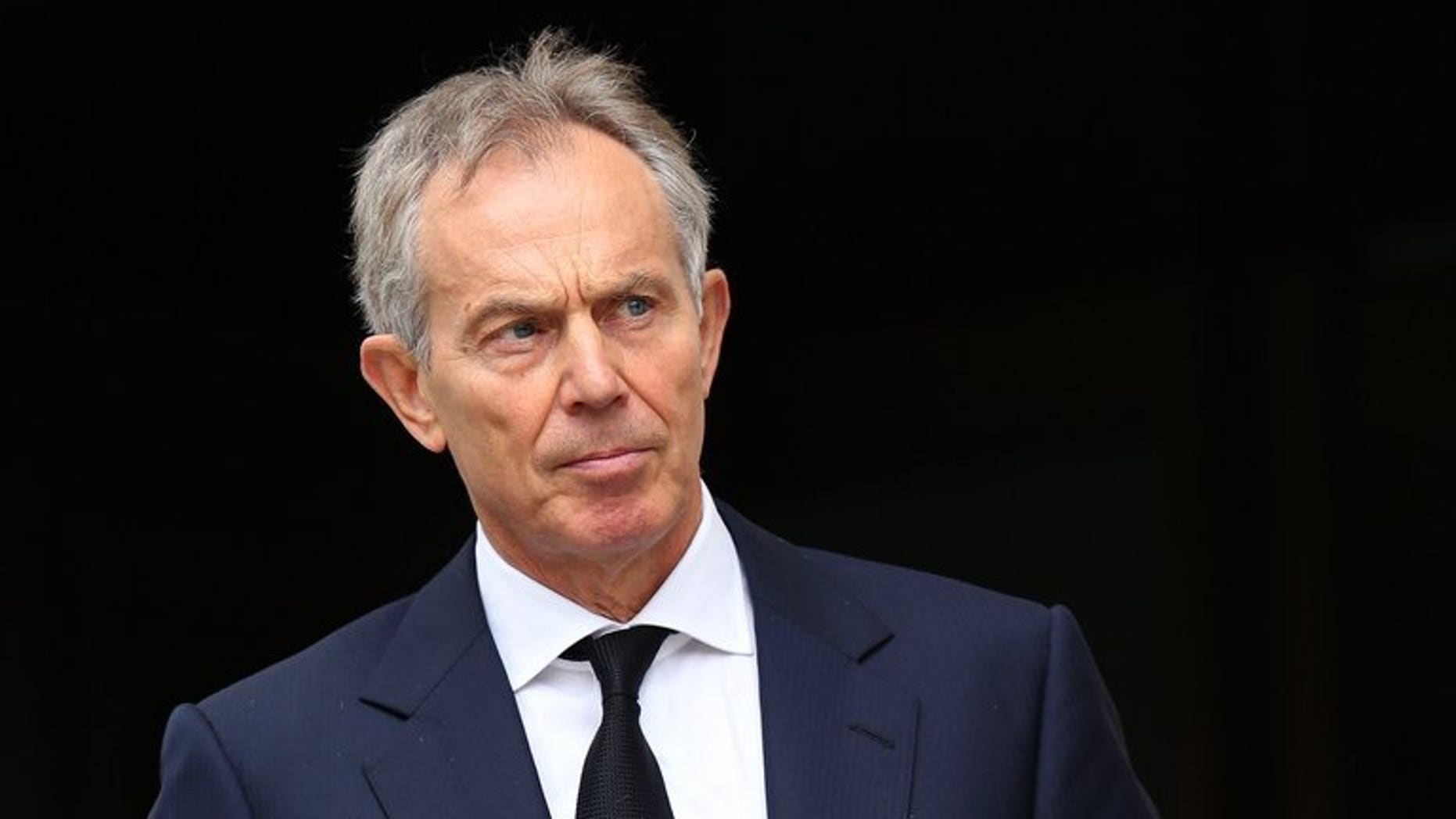 Former British prime minister Tony Blair pictured at St Paul's Cathedral in central London on April 17, 2013. Zimbabwe President Robert Mugabe on Tuesday said Blair was to blame for his country's problems on the eve of a crucial general election.