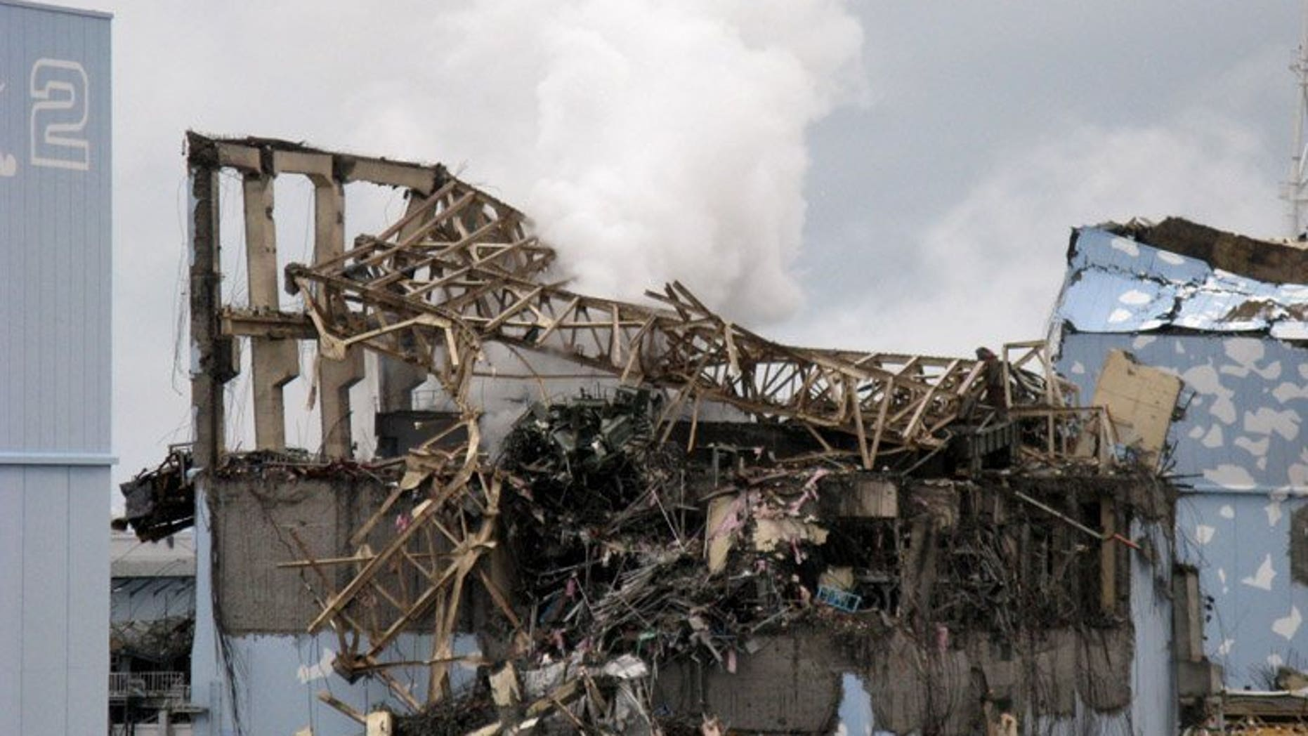 View of the unit 3 reactor at the crippled Fukushima nuclear power plant, on March 15, 2011. The clean-up after the Fukushima nuclear disaster will cost up to 5.81 trillion yen ($58 billion) -- five times more than estimated, according to Japan's National Institute of Advanced Industrial Science and Technology.