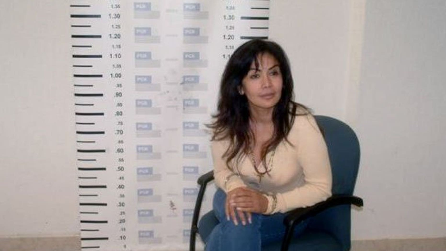 """A mug shots of Sandra Avila Beltran, also known as the """"Queen of the Pacific,"""" taken upon her arrest in Mexico City on September 28, 2007. Mexico will detain Avila Beltran for her links to the drug trade, after the United States deports her, an official said Wednesday."""