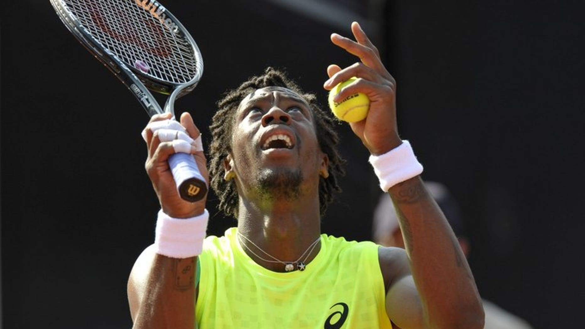 France's Gael Monfils, pictured during a match in Stuttgart, southwestern Germany, on July 12, 2013. Monfils, ranked 49th in the world, withdrew from next week's ATP event in Montreal after suffering an ankle injury in practice.