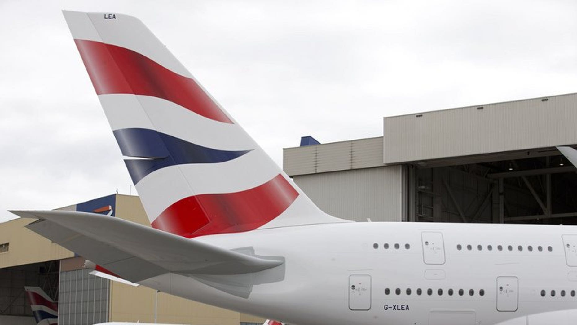 The tail of a British Airways Airbus A380 at Heathrow Airport in London on July 4. International Airlines Group, parent of British Airways, announced on Friday a return to profit in the second quarter despite the heavy financial burden of restructuring its struggling Spanish unit Iberia.