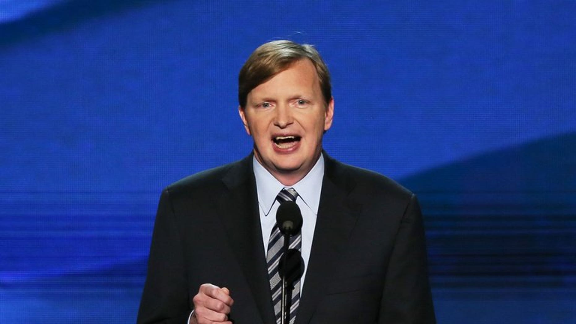 Britain's Prime Minister David Cameron has hired US President Barack Obama's campaign manager Jim Messina, pictured September 6, 2012, to advise his Conservative party on its strategy for the 2015 general election, it emerged.