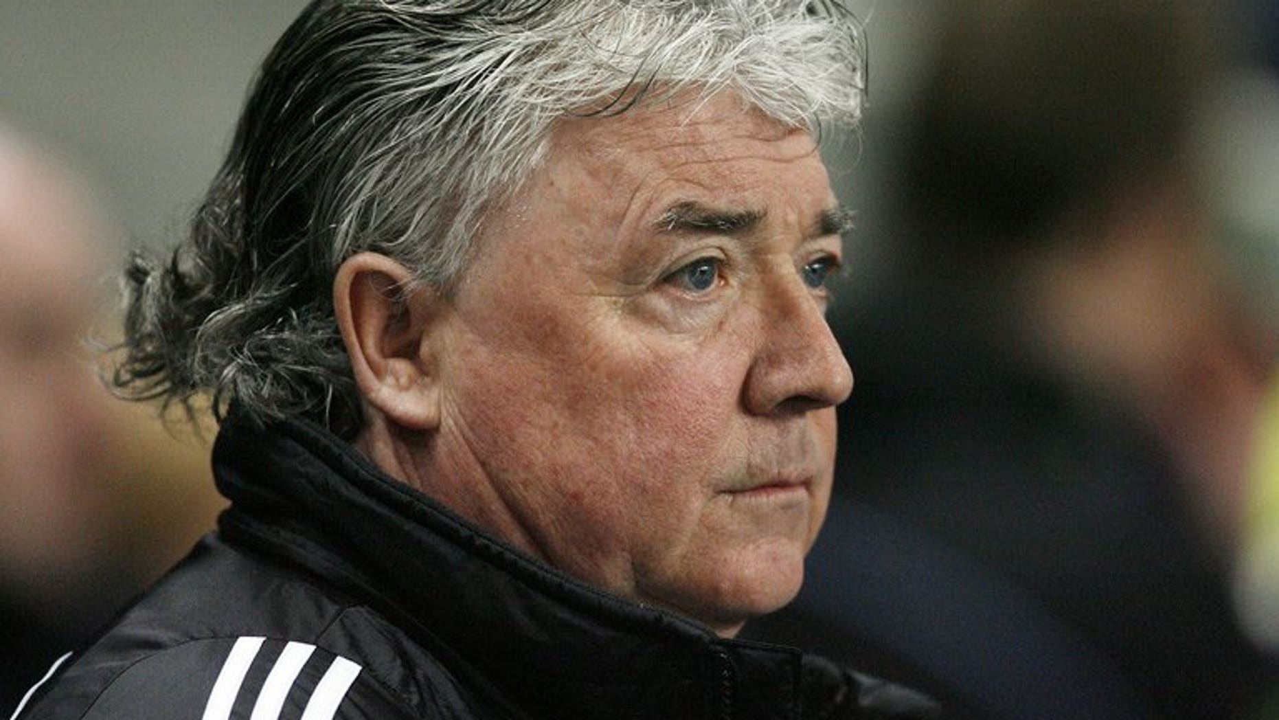 Newcastle manager Joe Kinnear watches before their Premier League football match against Manchester City at the City Of Manchester Stadium in Manchester on January 28, 2009. Kinnear insisted he will eventually deliver the signings required to lift the mood at the troubled Premier League club.