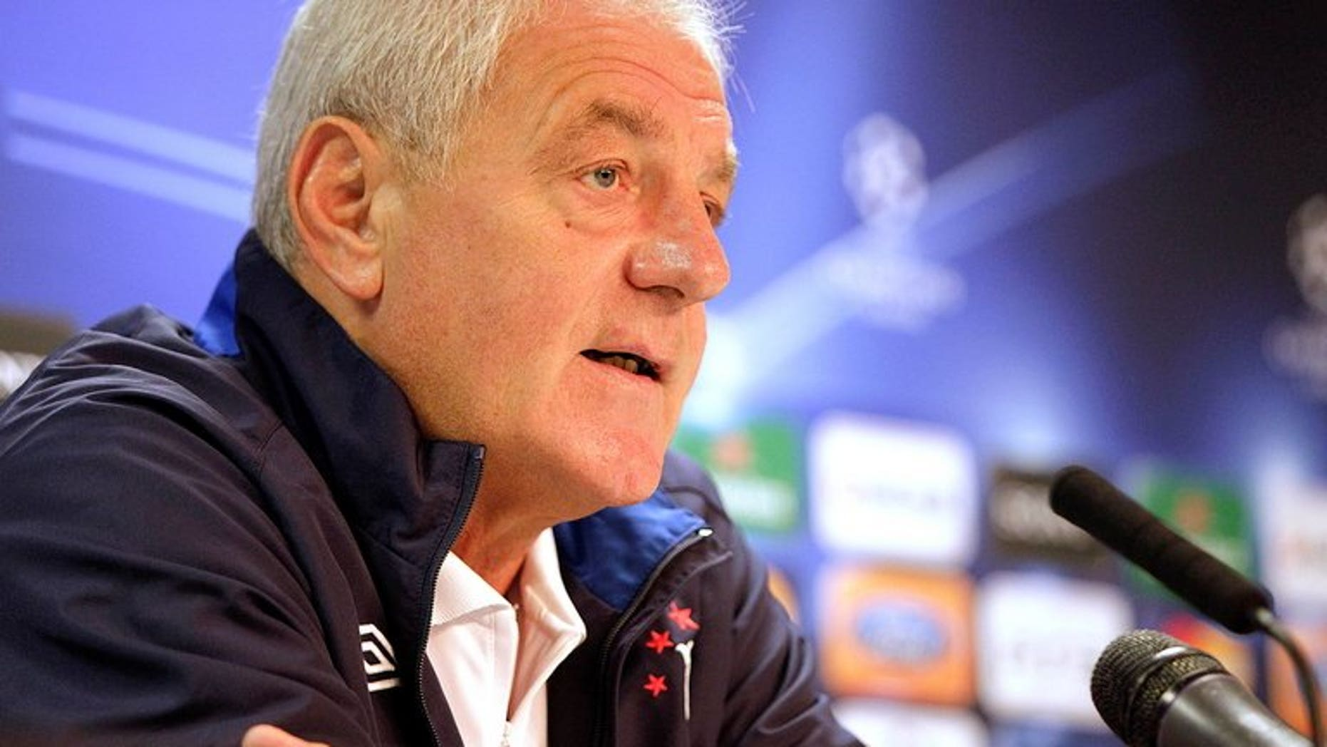 Walter Smith speaks during a press conference at Ibrox Stadium, Glasgow, Scotland, on September 28, 2010. Smith resigned on Monday as chairman of fallen Scottish giants Rangers in the midst of a power struggle at Ibrox.