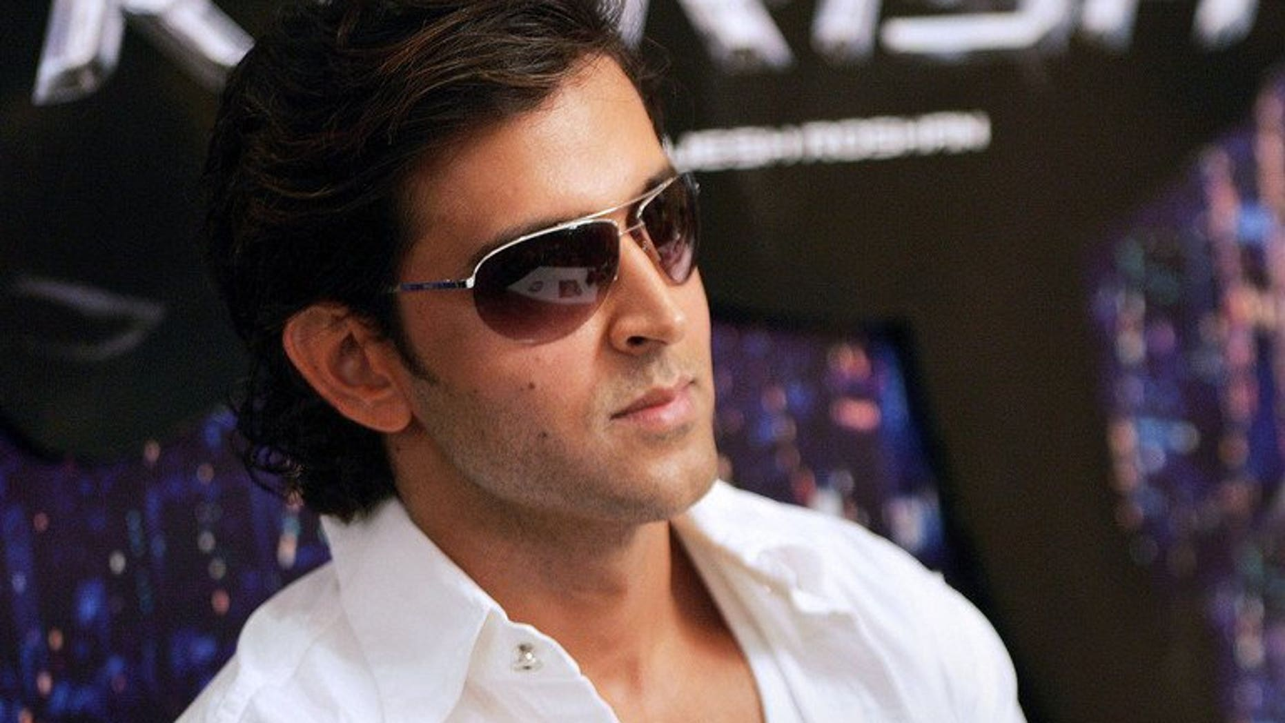 """In this file photo, Indian actor Hrithik Roshan is seen during a press conference held to launch merchandise products of the movie 'Krrish', in Mumbai, on June 12, 2006. """"Krrish 3"""" will be released in November 2013 during Diwali festival. The first two movies in the Krrish series drew huge turnouts at the box office."""