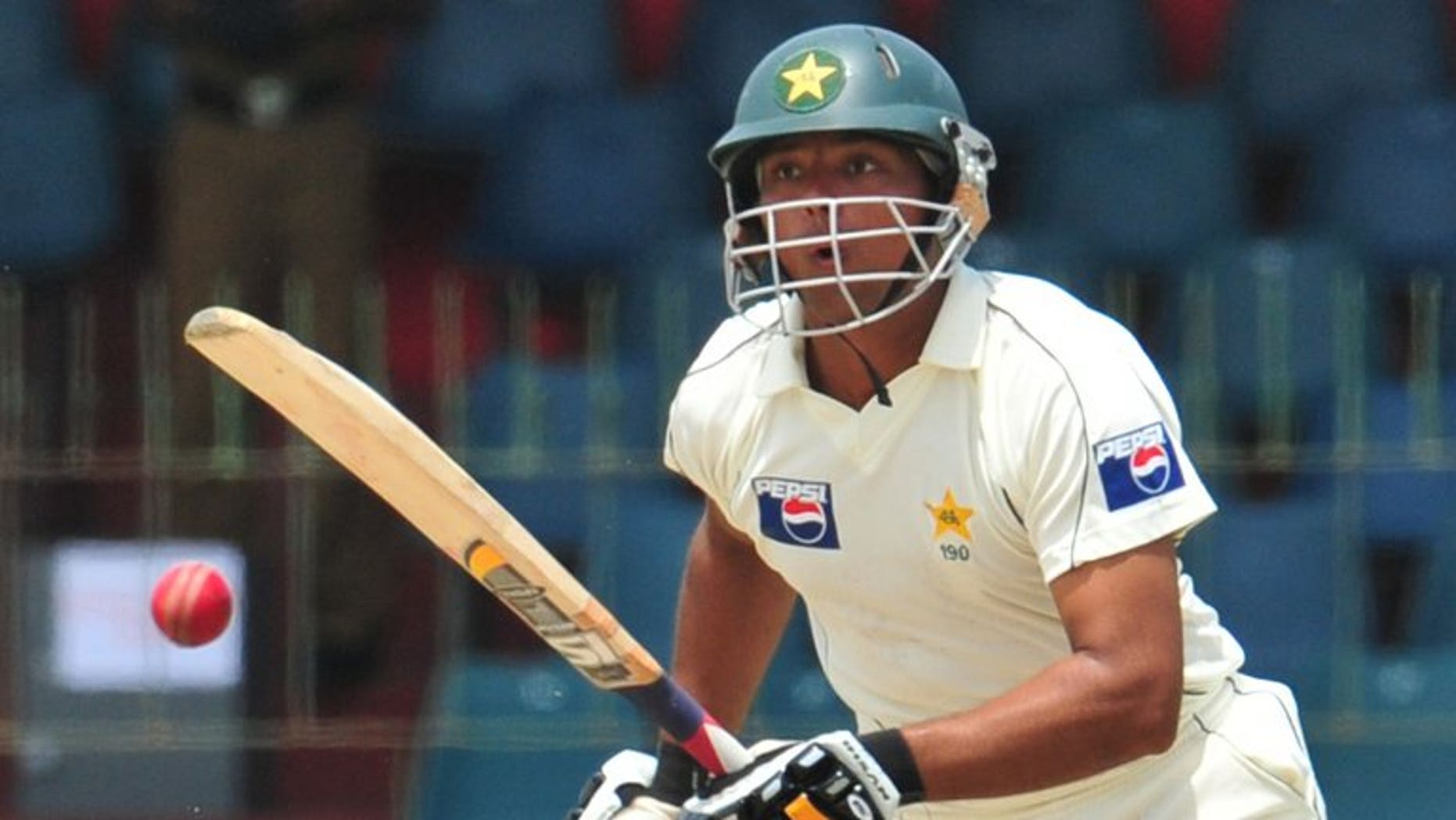 Pakistan's Khurram Manzoor plays a shot during the third and final Test match against Sri Lanka in Colombo, on July 20, 2009. Manzoor has been recalled to the Test squad for the tour of Zimbabwe later this month, but there was no room in the squad for giant paceman Mohammad Irfan.