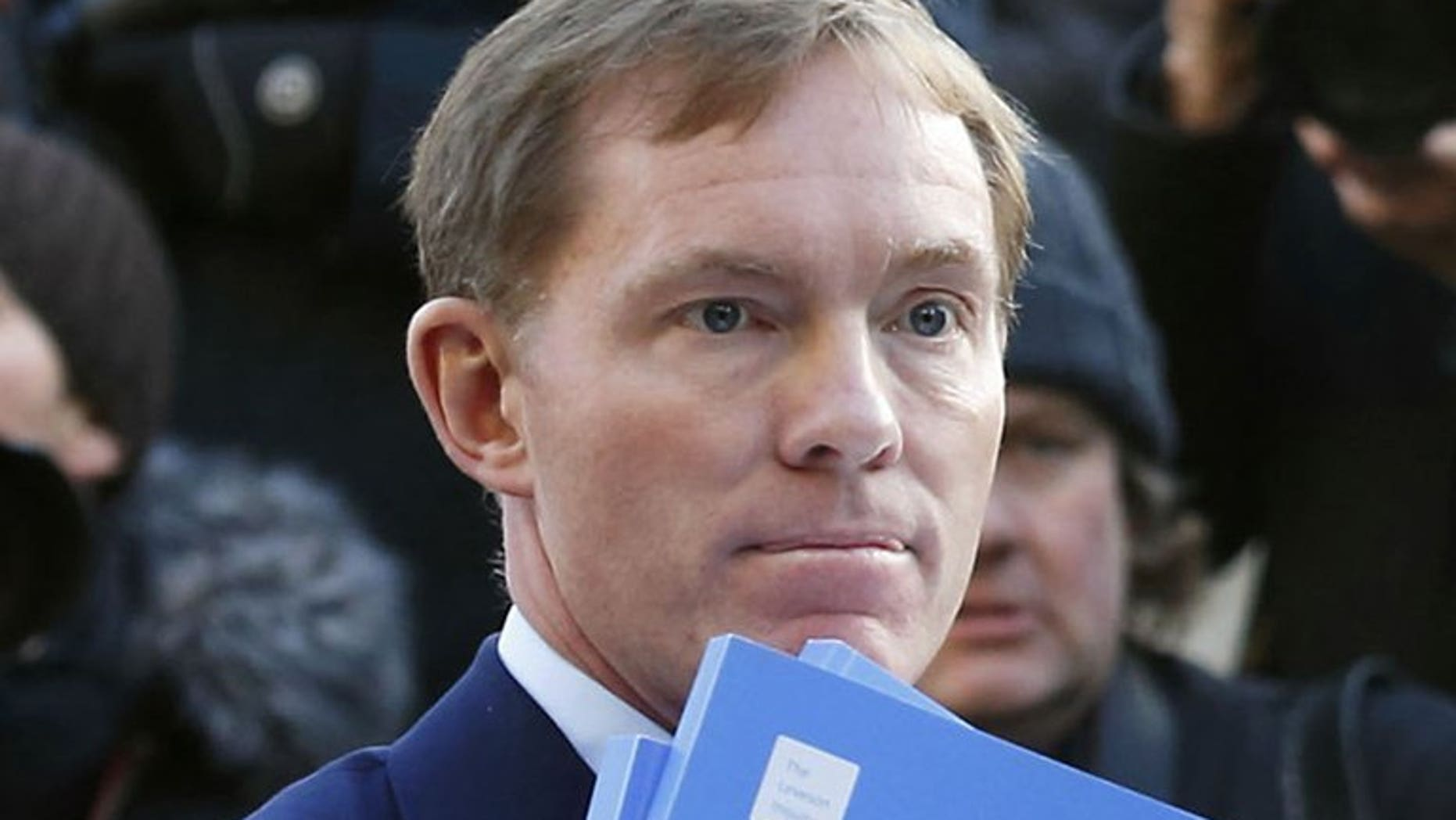 Labour's shadow immigration minister Chris Bryant pictured in central London on November 29, 2012. Bryant on Monday backed down over criticism of supermarket giant Tesco and high street clothes retailer Next for their employment of foreign workers in Britain.