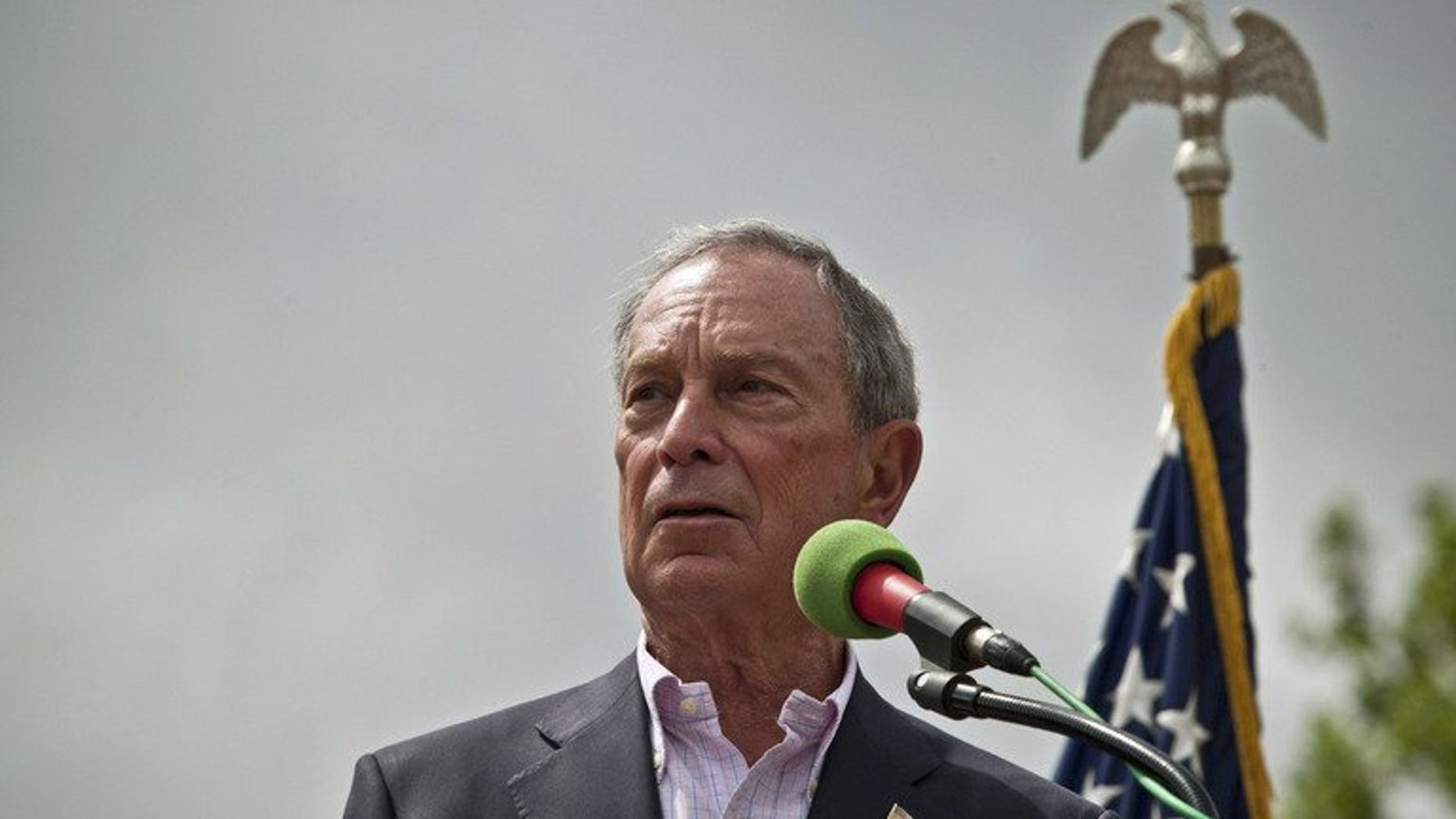 New York Mayor Michael Bloomberg speaks on July 4, 2013 in New York City. Bloomberg has splashed out on a hand-made copper bath from a historic French foundry.