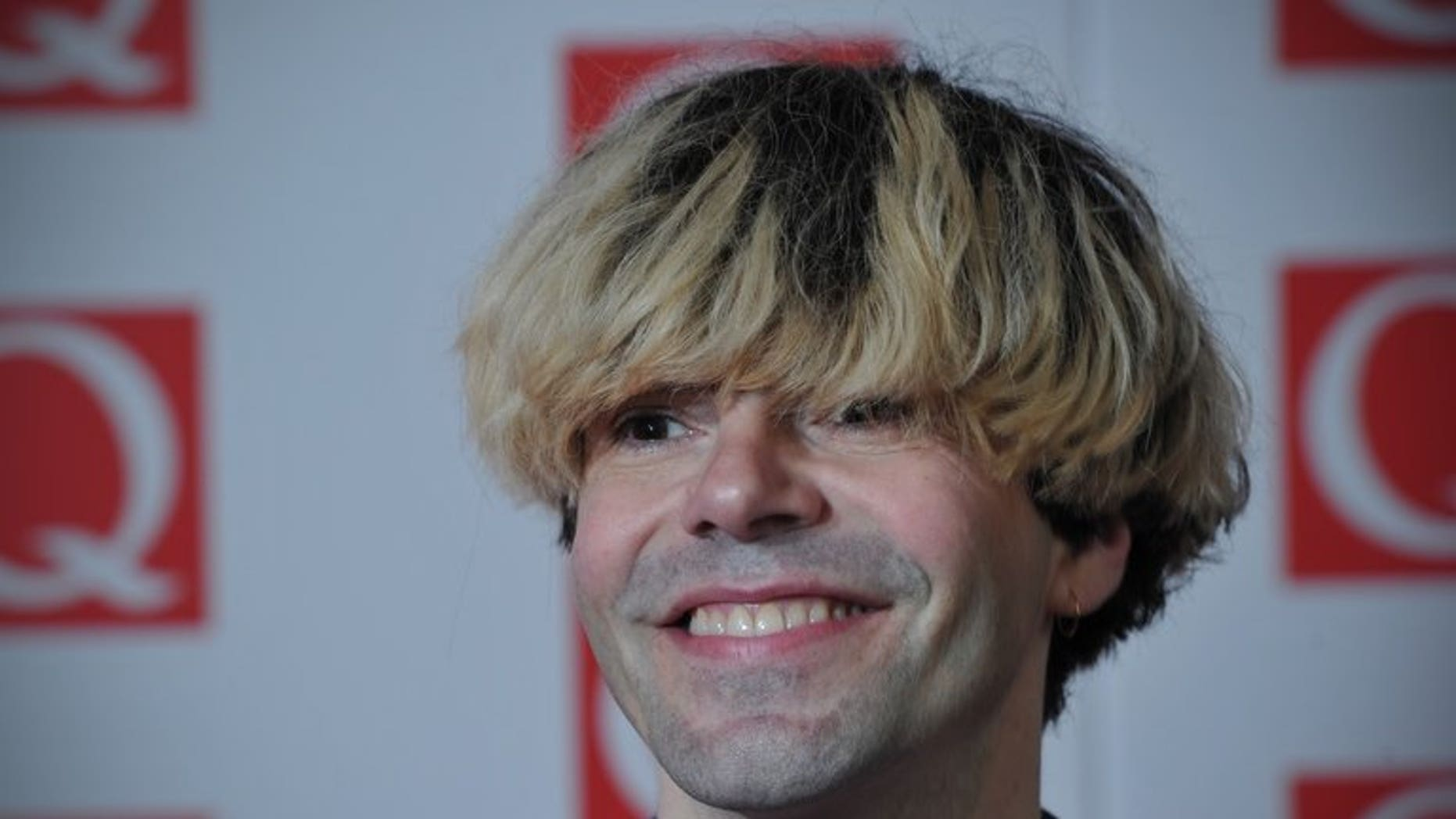Tim Burgess, lead singer of British band The Charlatans attends the Q Awards in central London on October 22, 2012. Tributes poured in for Charlatans drummer Jon Brookes who passed away after battling brain cancer for three years.