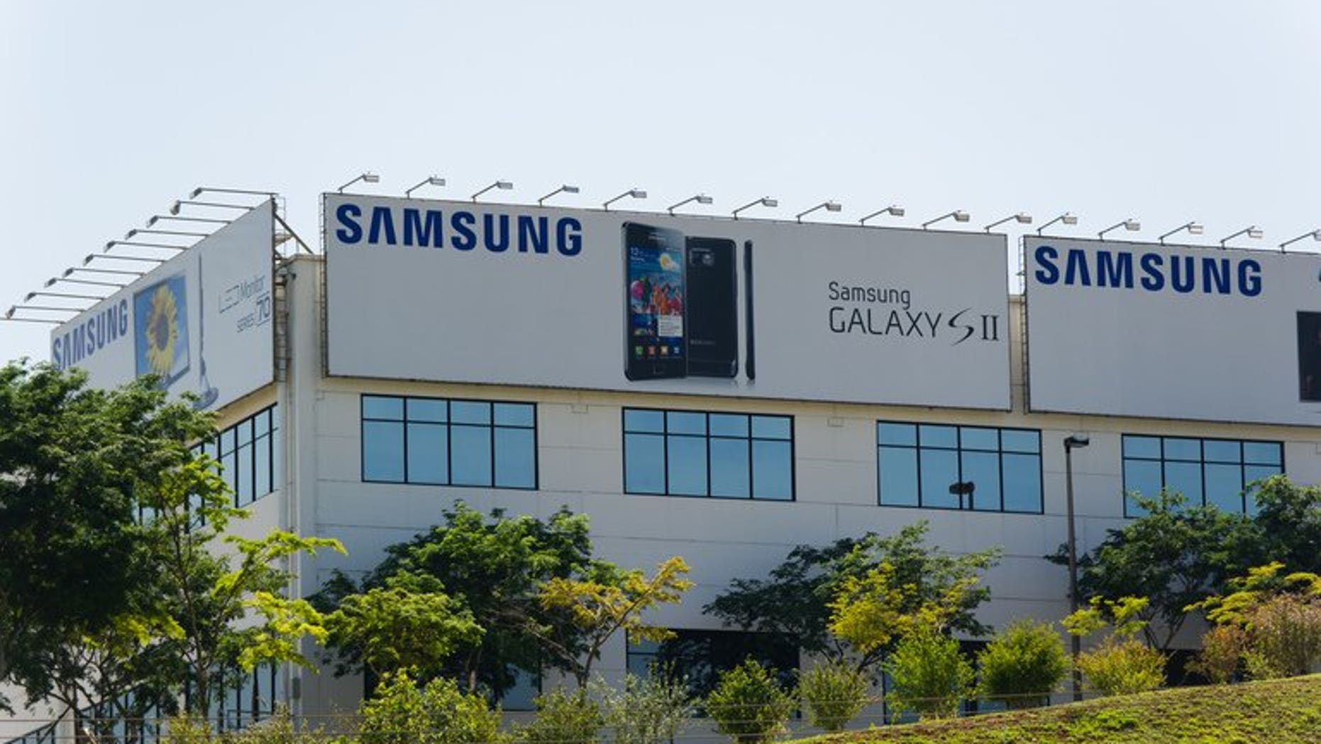 This file photo shows a general view of the premises of Samsung factory in Campinas, pictured on November 8, 2011. Brazil has filed a lawsuit against Samsung alleging poor working conditions at a factory in the Amazon and demanding more than $100 million in damages.