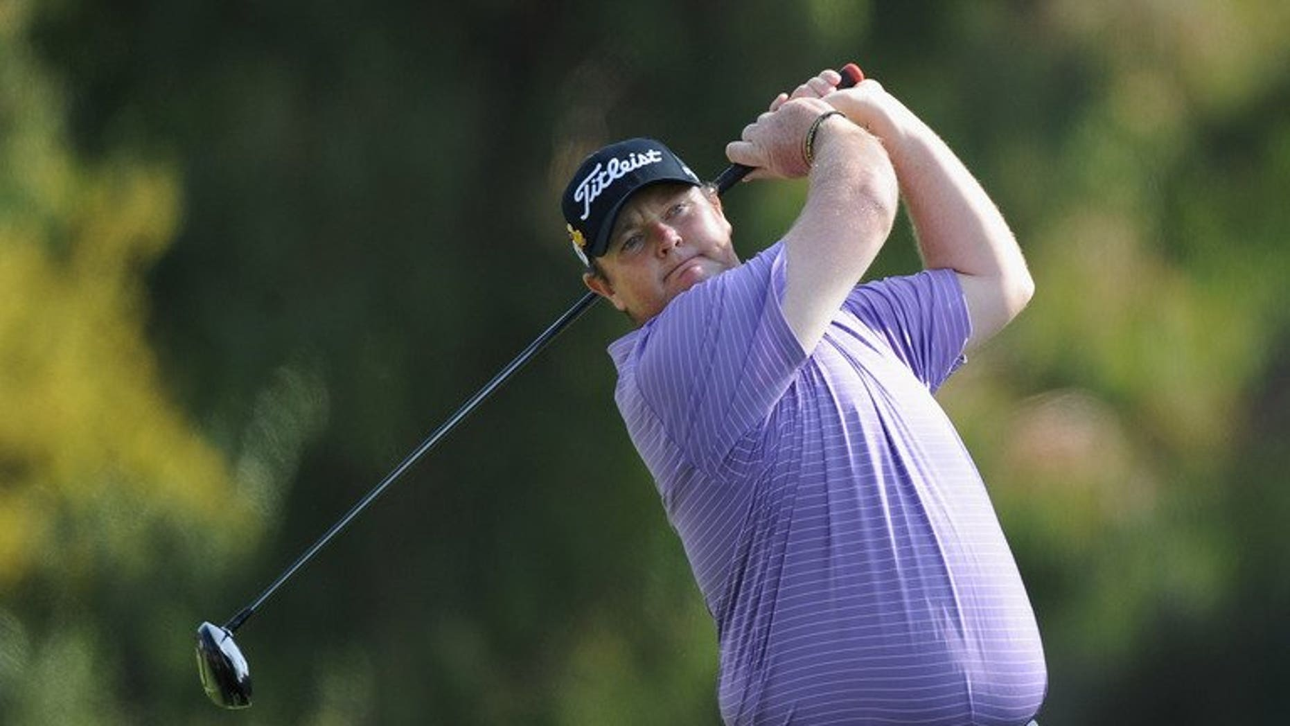 Australia's Jarrod Lyle pictured during the Northern Trust Open in Pacific Palisades, California on February 19, 2012. He will make a return to professional golf at the Australian Masters in November after an 18-month battle with cancer, organisers said Wednesday.