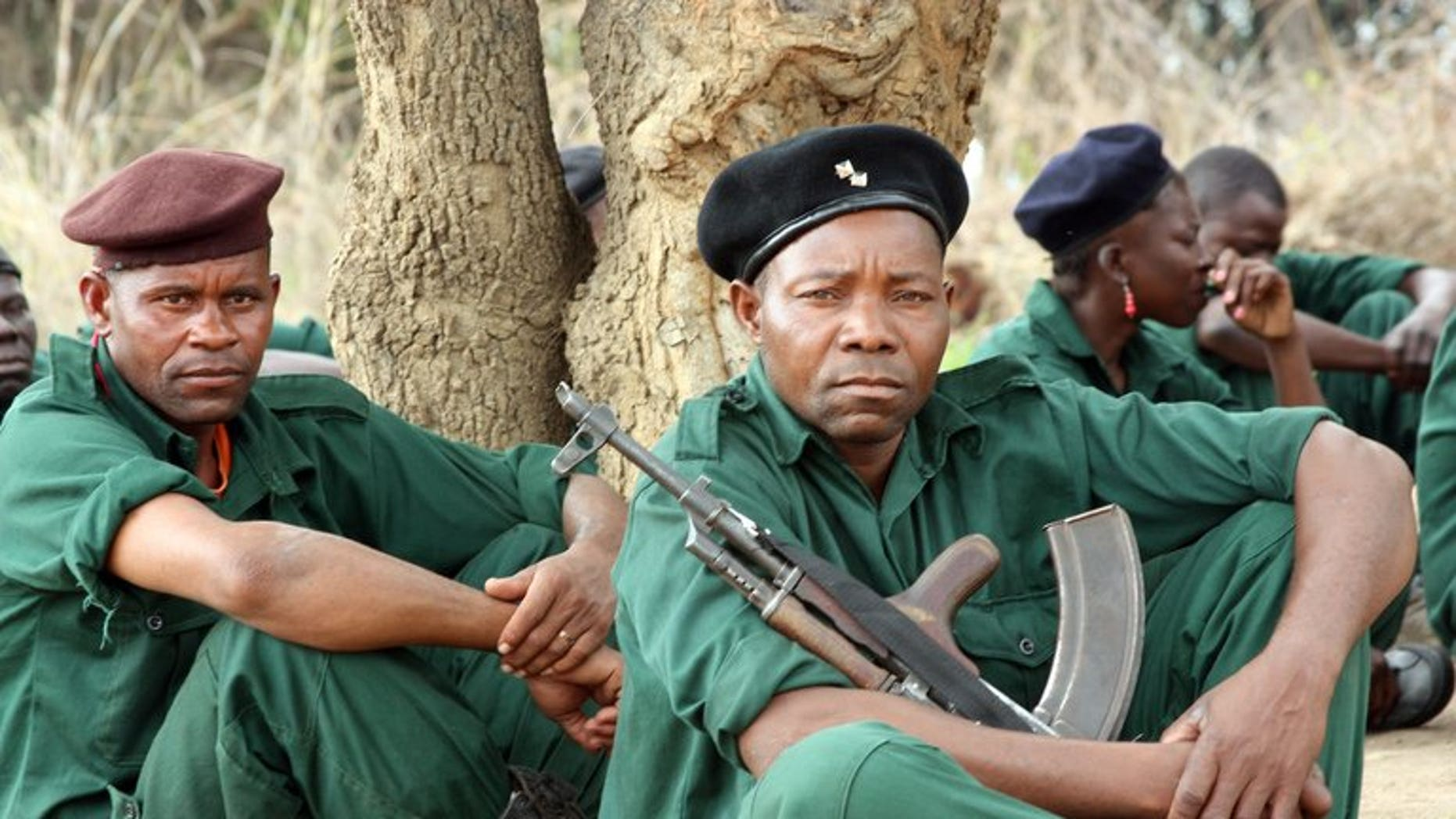 Fighters of former rebel movement Renamo receive military training in Gorongosa's mountains in Mozambique on November 8, 2012. Mozambique police dismissed claims by former rebels Renamo that they had killed 36 soldiers and police, admitting to only one death from the weekend clashes.