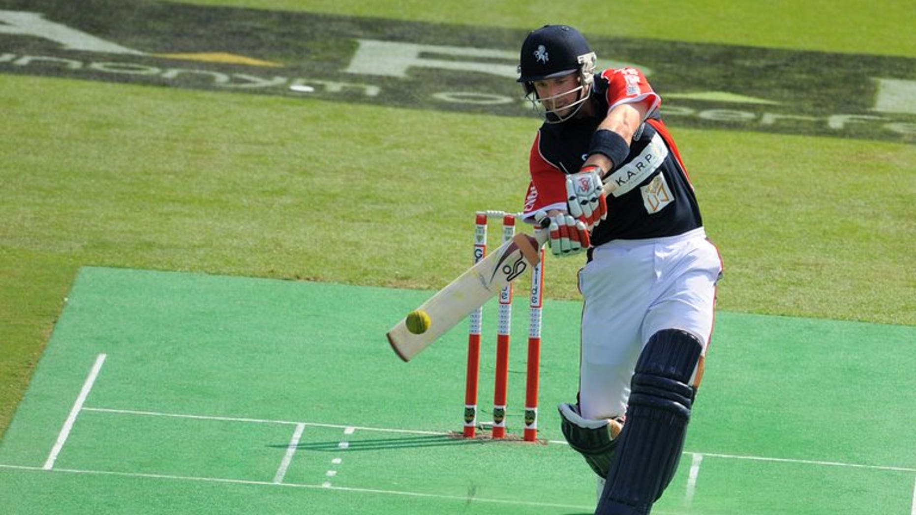 England's Darren Stevens hits a shot during a cricket sixes match against India on October 31, 2009 at the Kowloon cricket club in Hong Kong. Stevens on Wednesday admitted to being charged by the International Cricket Council with failure to report attempted corruption in the Bangladesh Premier League.