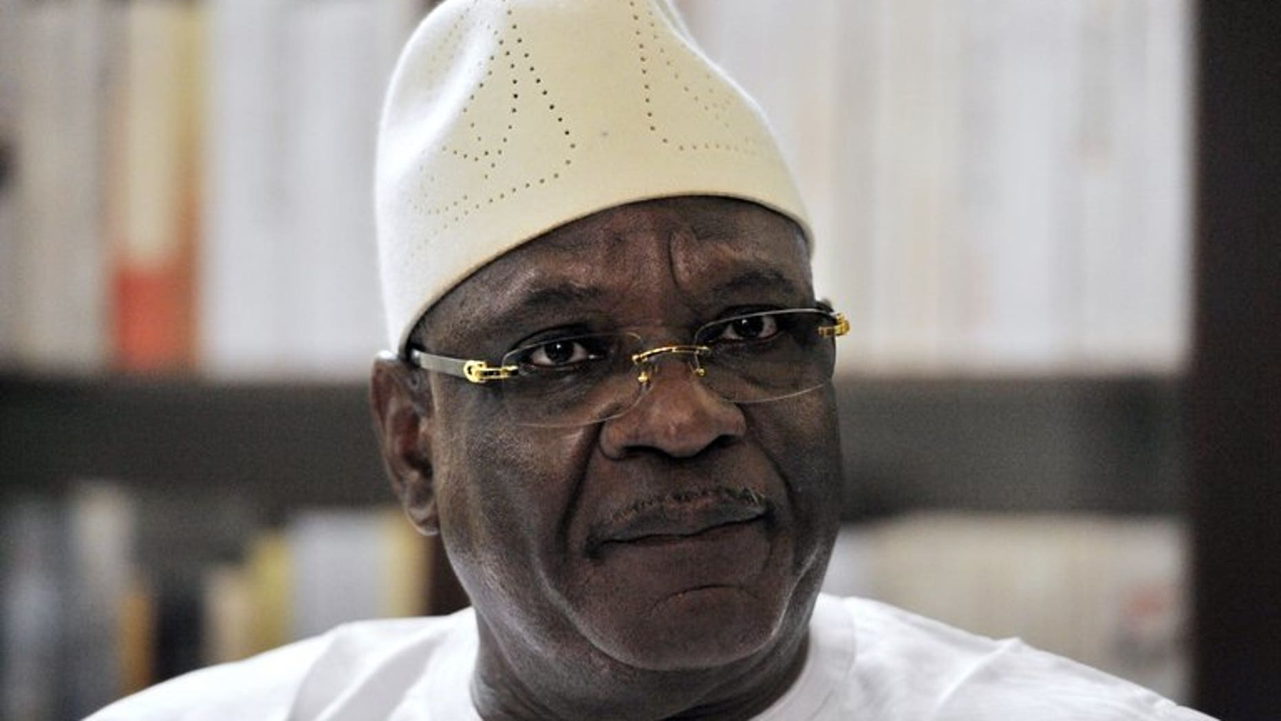 Ibrahim Boubacar Keita speaks in an interview in Bamako on August 9. Mali announced Ibrahim Boubacar Keita as its new leader on Thursday when the government confirmed the ex-prime minister had won a landslide victory in a presidential poll intended to give a fresh start to the conflict-scarred nation.