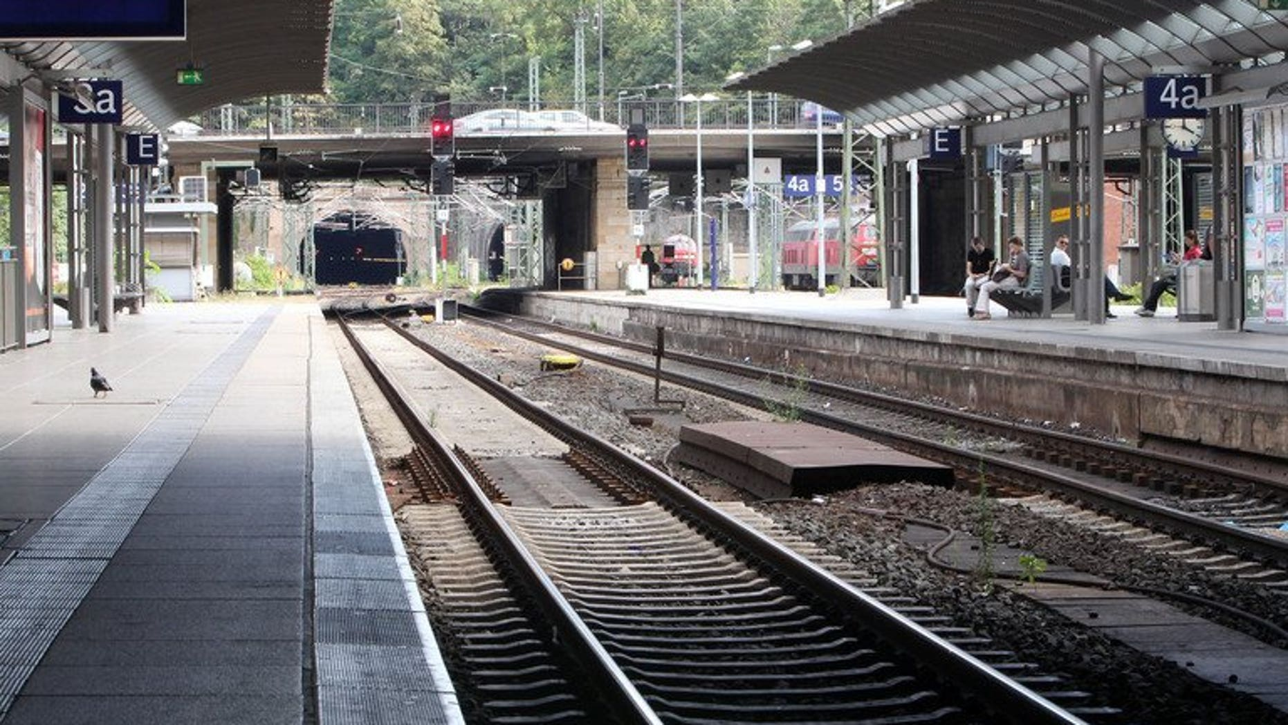 This file photo shows the main railway station in Mainz, western Germany, pictured on August 12, 2013. Al-Qaeda is plotting attacks on Europe's high-speed rail network, German mass circulation daily Bild reported on Monday, citing intelligence sources.