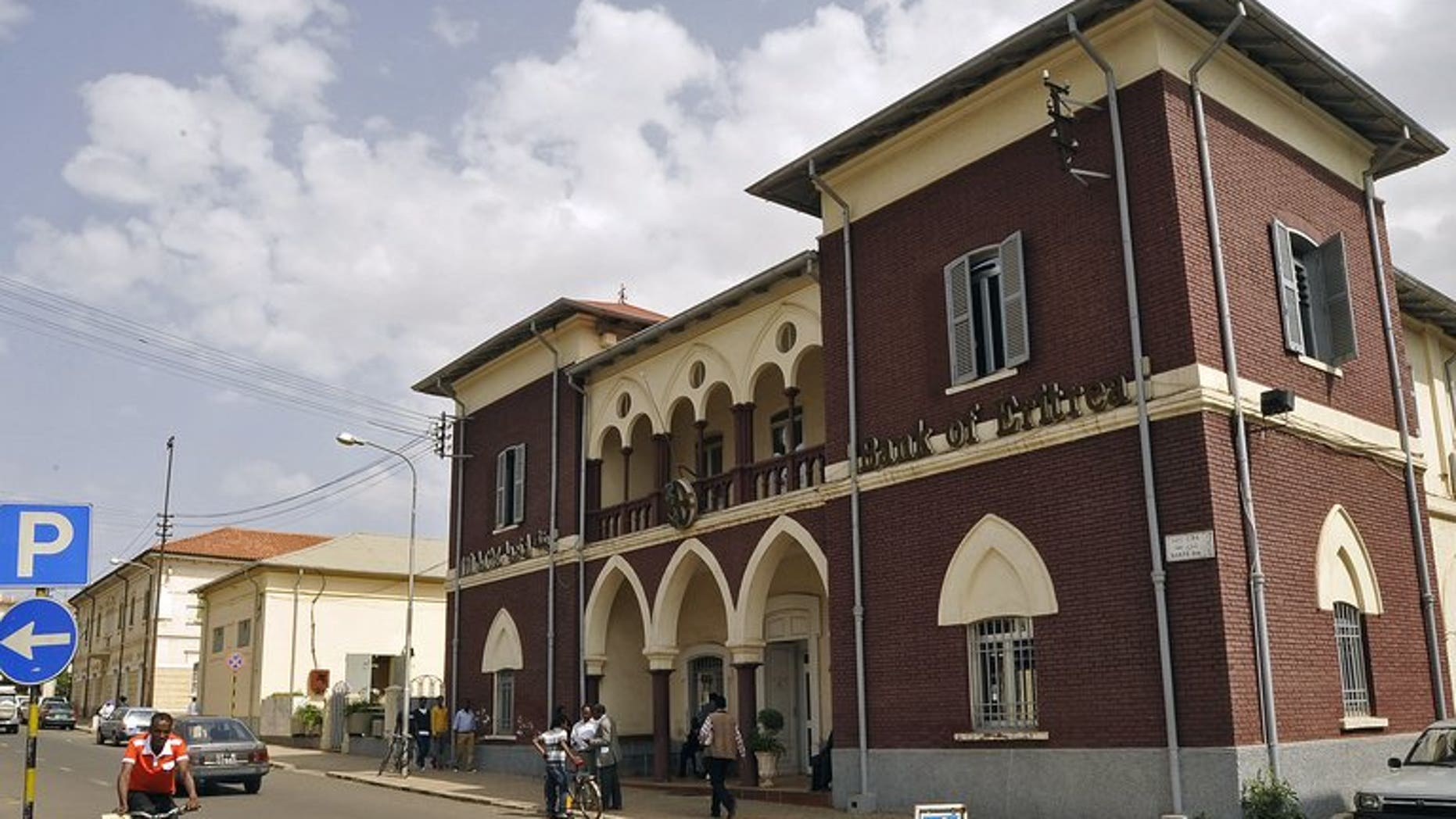 A photo taken on July 22, 2013 shows the Bank of Eritrea in Asmara. Long criticised for backing rebel groups across the Horn of Africa, Eritrea has said that ending its isolation is crucial for economic growth, blaming external threats for its slow development.
