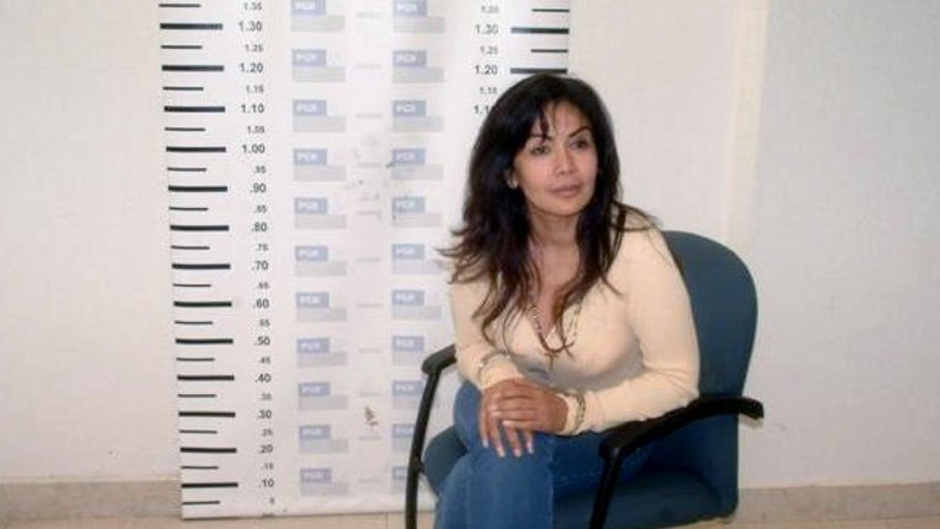 "A mug shot of Sandra Avila Beltran, also known as the ""Queen of the Pacific,"" taken upon her arrest in Mexico City on September 28, 2007. The ""Queen of the Pacific"" for her links to drug trafficking returned home Tuesday to face money laundering charges after the United States deported her."