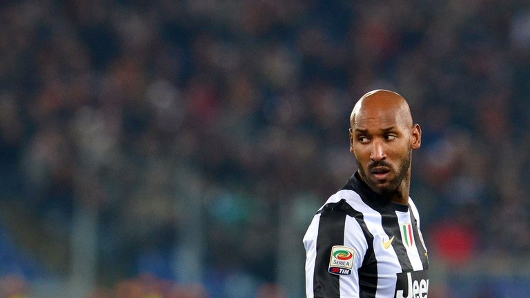 Nicolas Anelka is pictured on February 16, 2013 at the Olympic Stadium in Rome. Anelka will miss West Bromwich Albion's game against Everton this weekend after being granted compassionate leave, the Premier League club announced on Thursday.