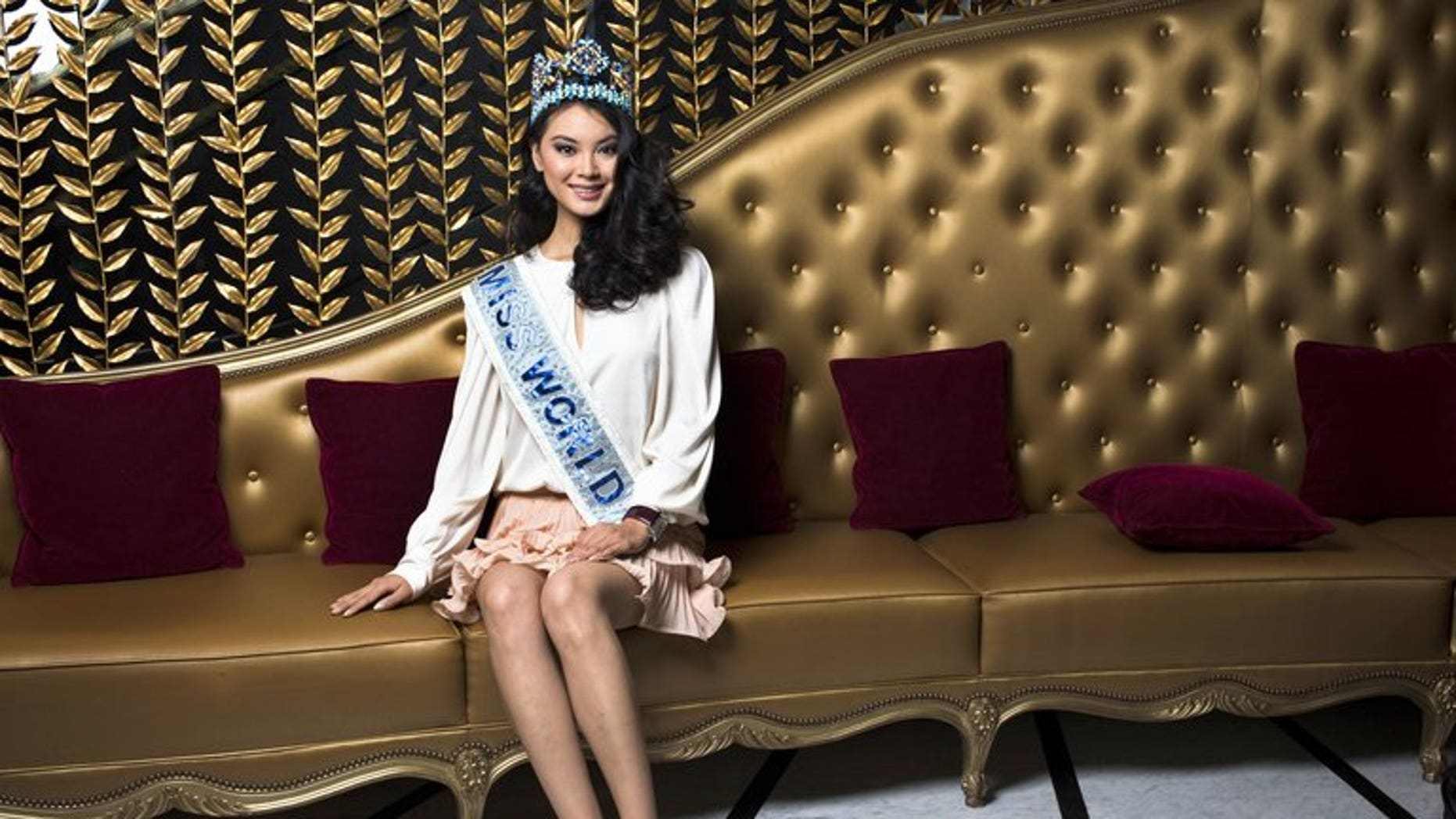 Chinese Miss World 2012 Wenxia Yu poses on September 26, 2012 in Paris. Indonesia's top Islamic authority lashed out Friday at the country's decision to host the Miss World beauty pageant next month, saying that women exposing their bodies went against Muslim teaching.